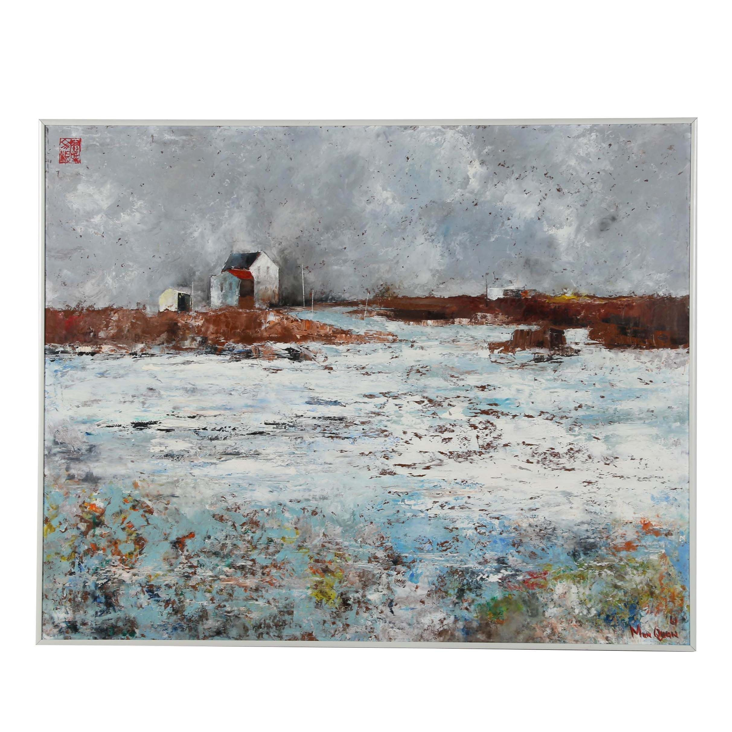 "Mun Quan Oil Painting ""Spring Thaw"""