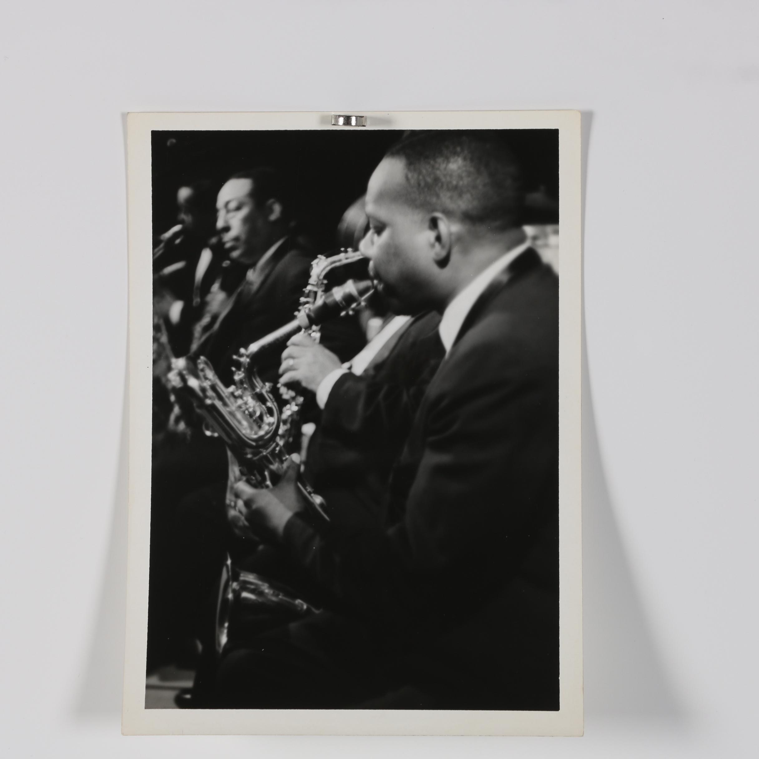 Jack Bradley Photograph of the Duke Ellington Band with Johnny Hodges