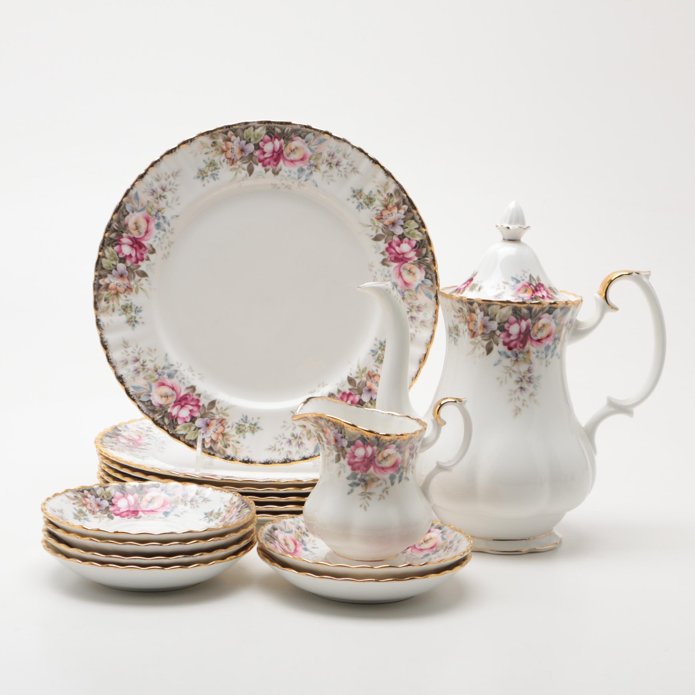 "English Royal Albert ""Autumn Roses"" Bone China Tableware"
