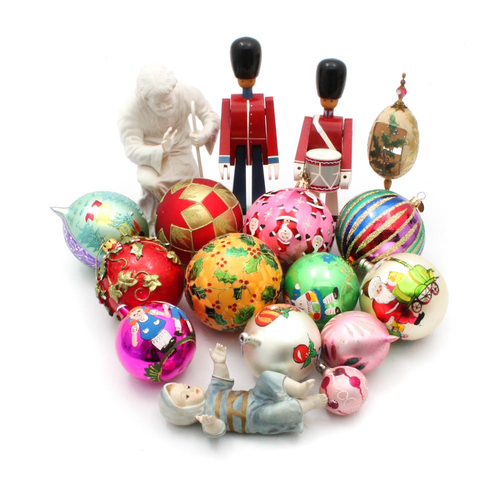 Boehm Joseph, Baby Jesus Figurines, Holiday Ornaments Featuring Radko, Waterford