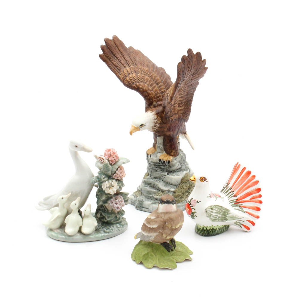 """Lladró """"How Do You Do"""" and Other Bird Figurines"""
