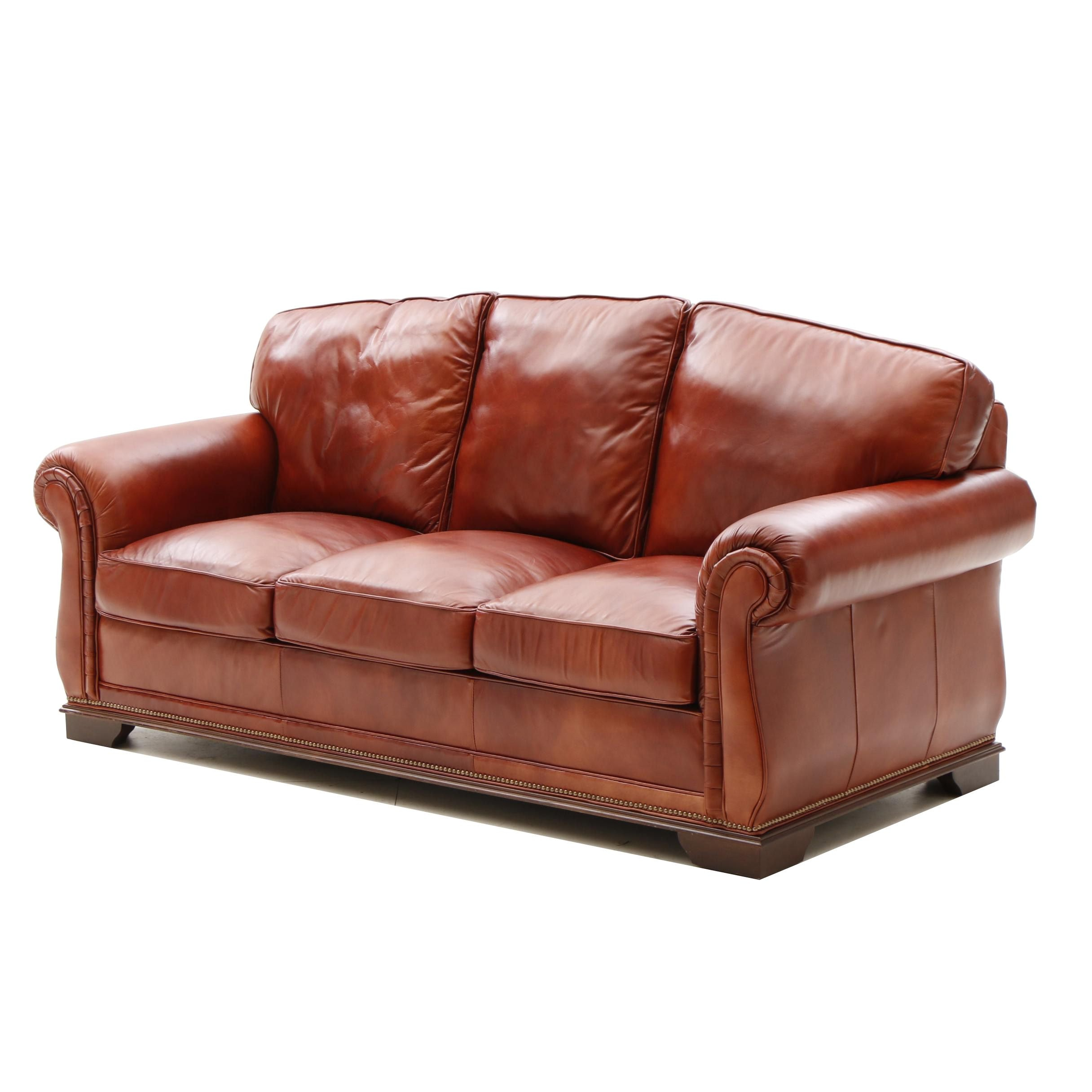 Contemporary Leather Sofa by Classic Leather Inc.