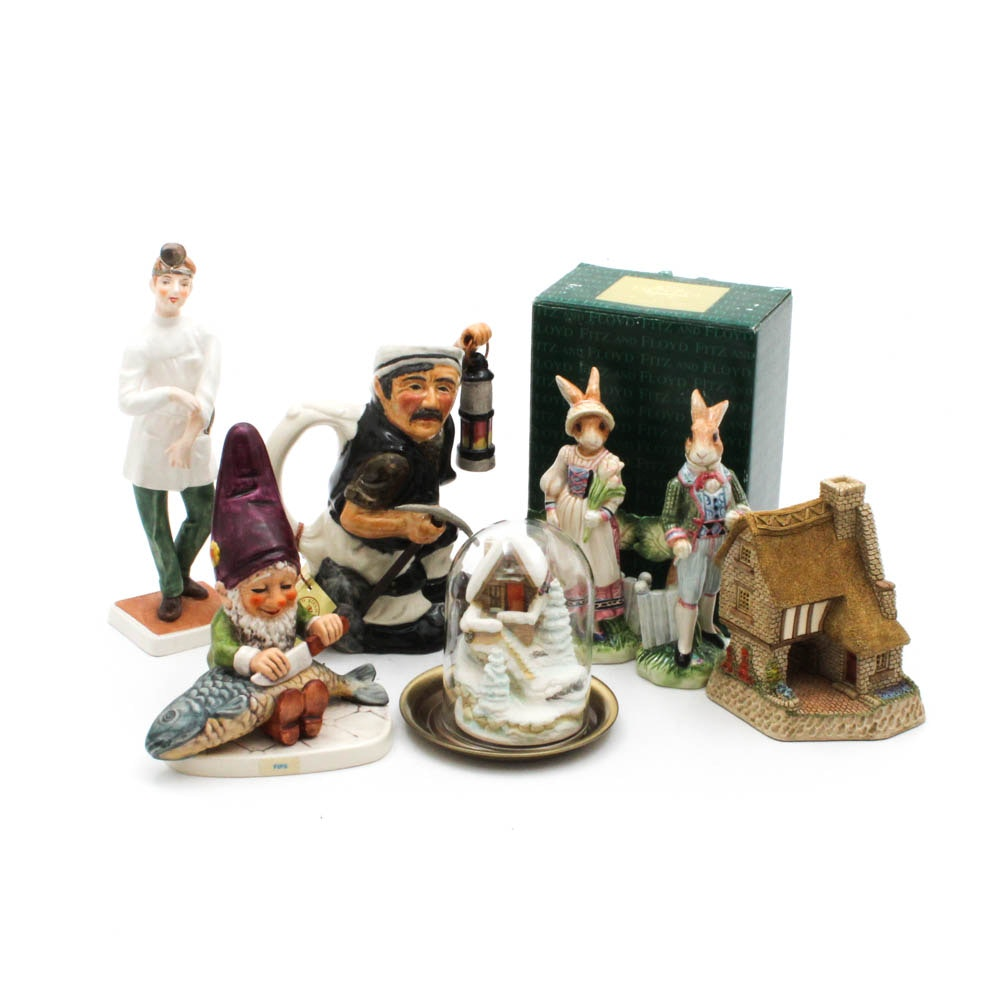 Roy Kirkham, Goebel, David Winter, Fitz and Floyd Figurines