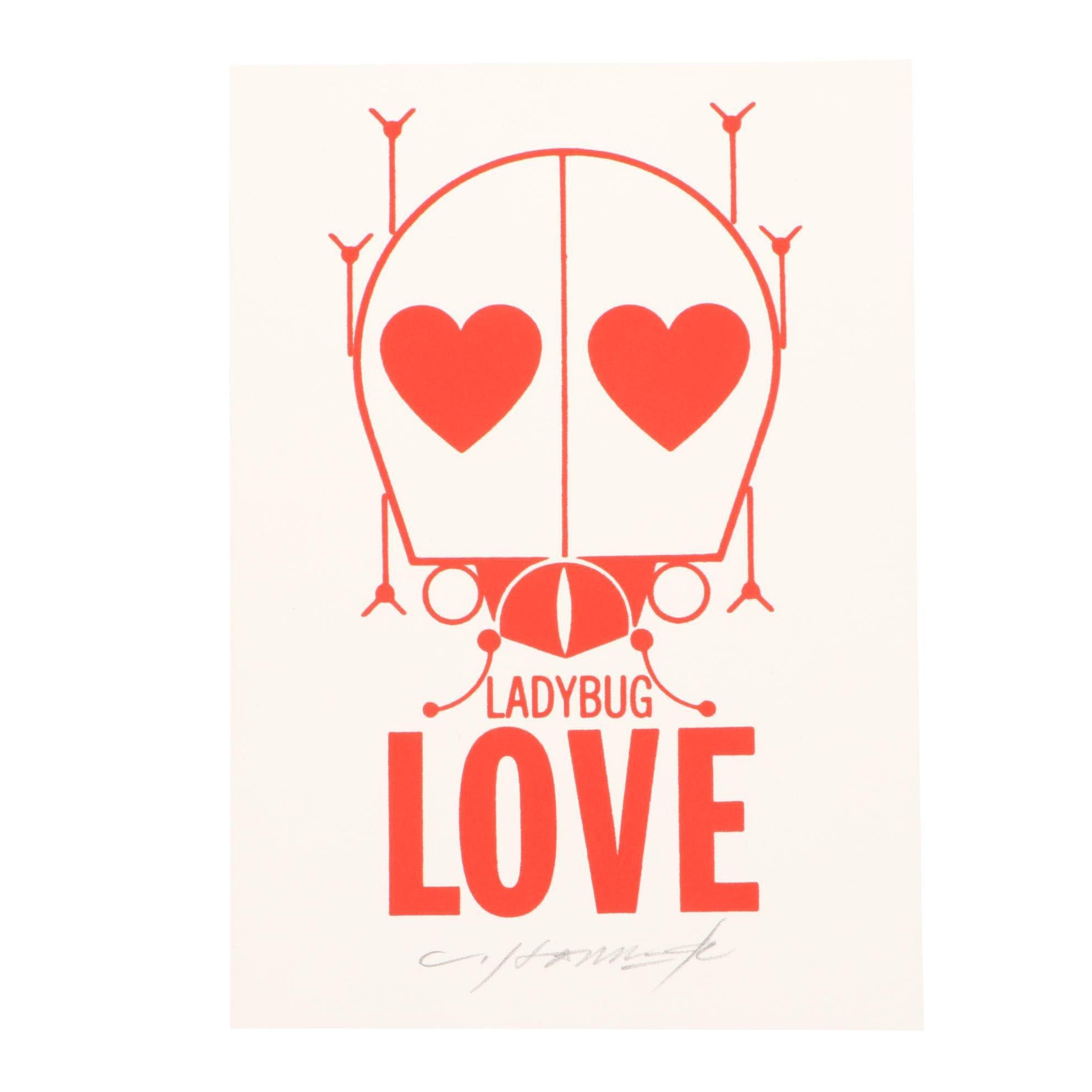 "Charley Harper Serigraph ""Ladybug Love"""