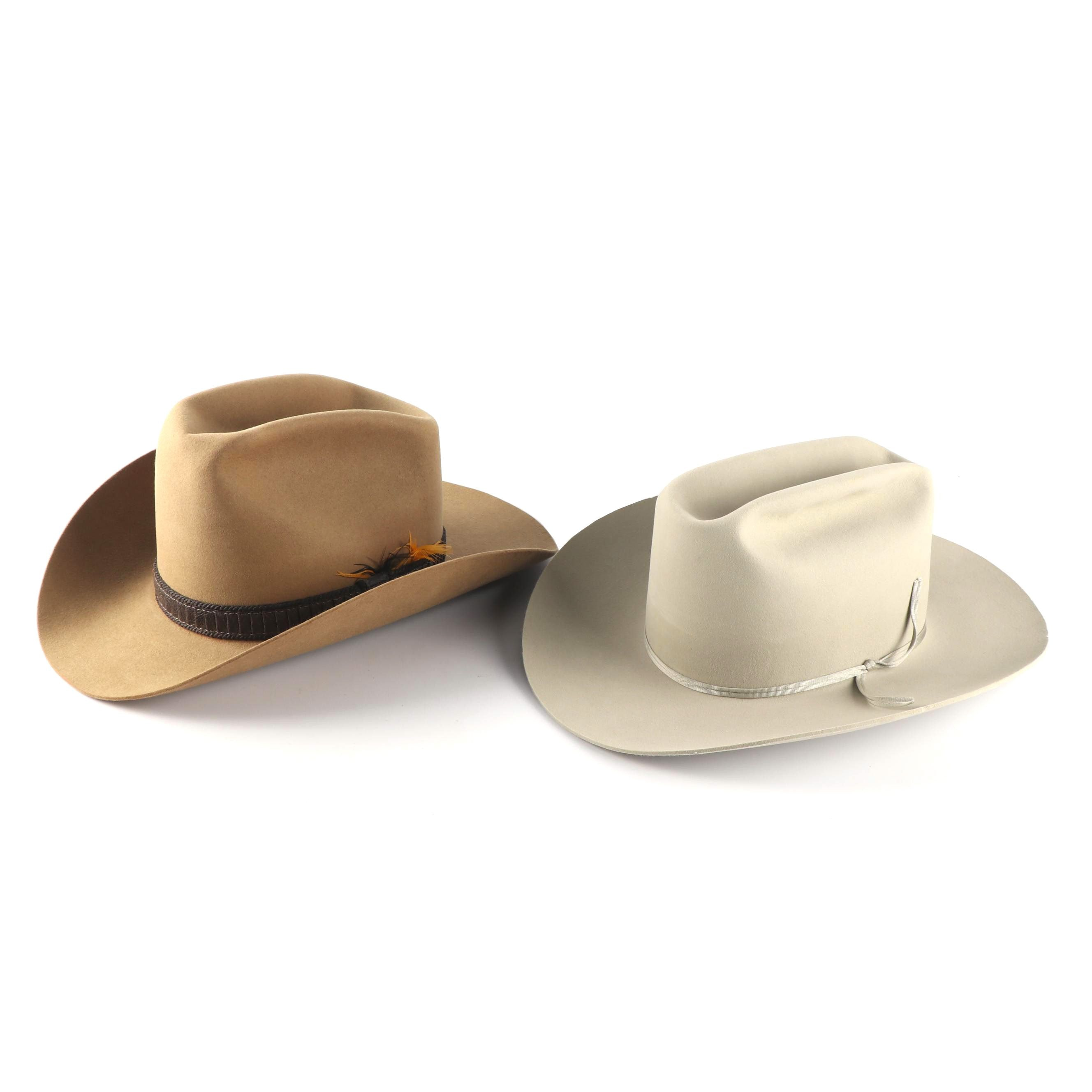 Men's Thoroughbred 10X Felted and Bradford 5X Beaver Felted Cowboy Hats