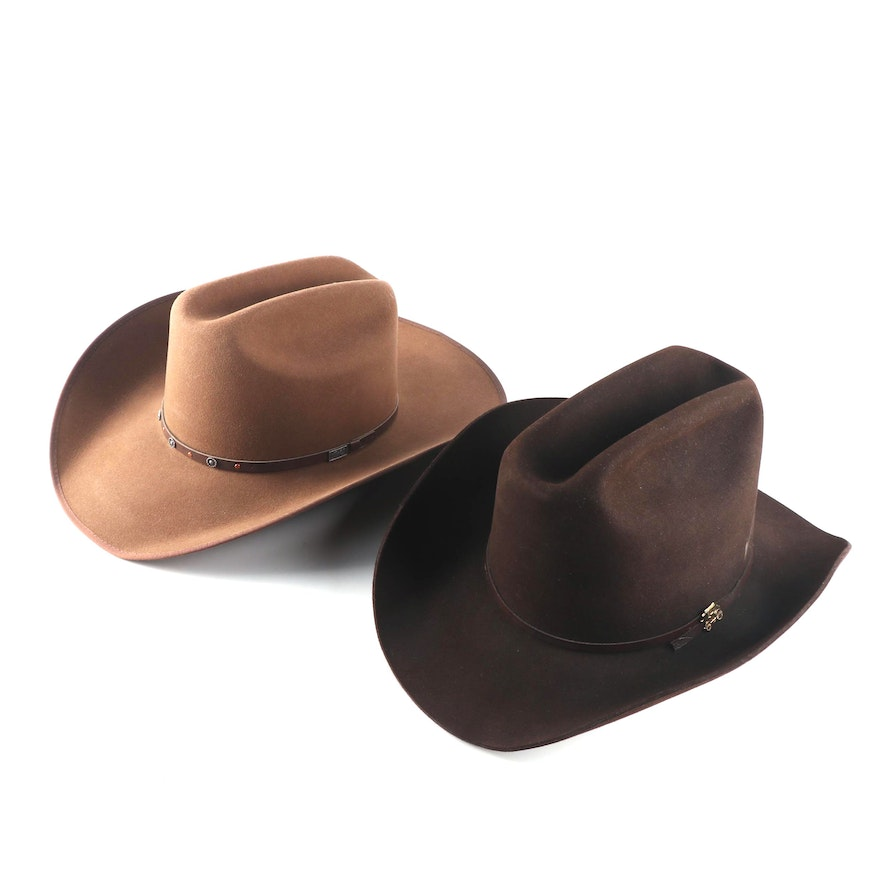 Resistol and Bailey Felted Cowboy Hats   EBTH 5830cd43dcbc