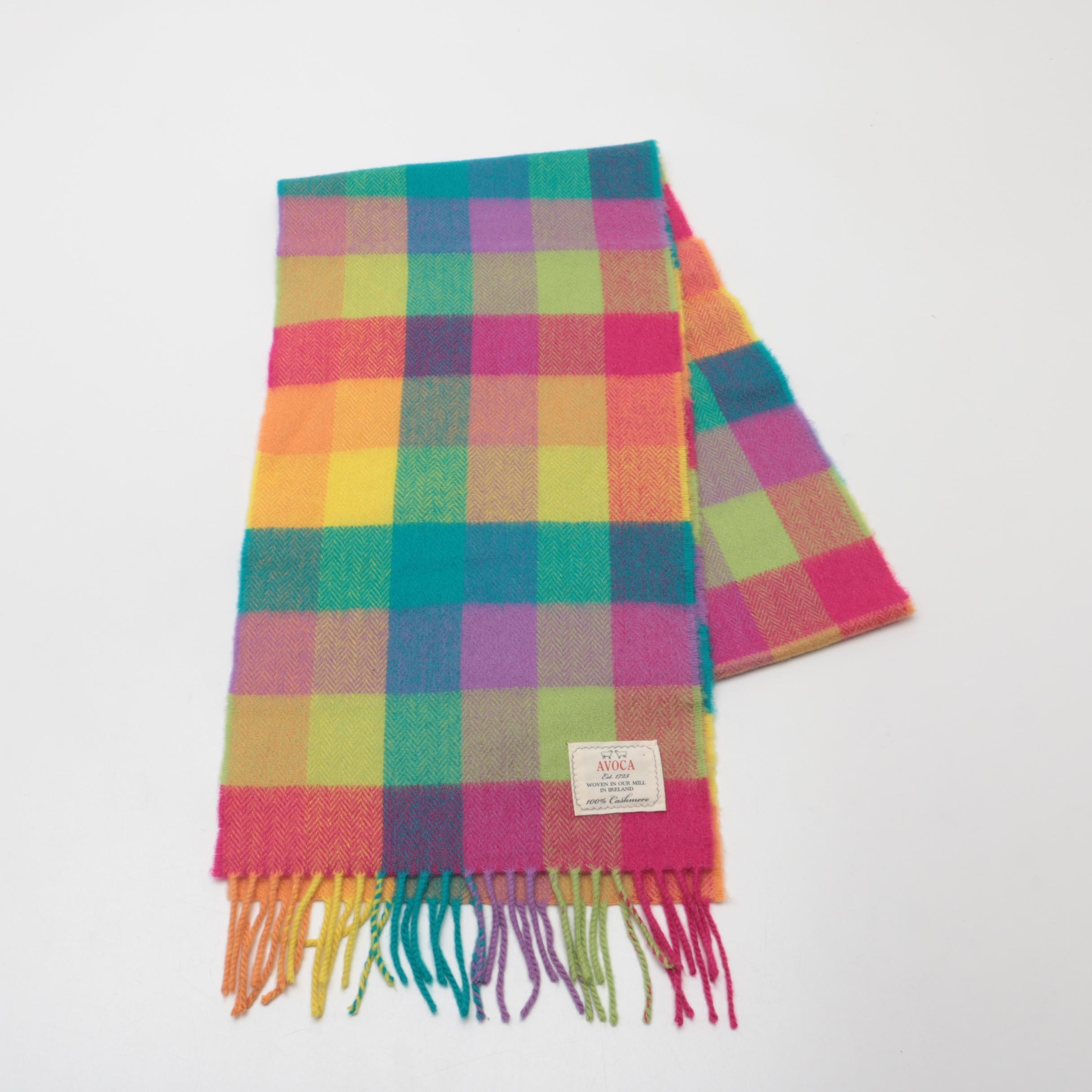 Avoca Plaid Cashmere Scarf Woven in Ireland