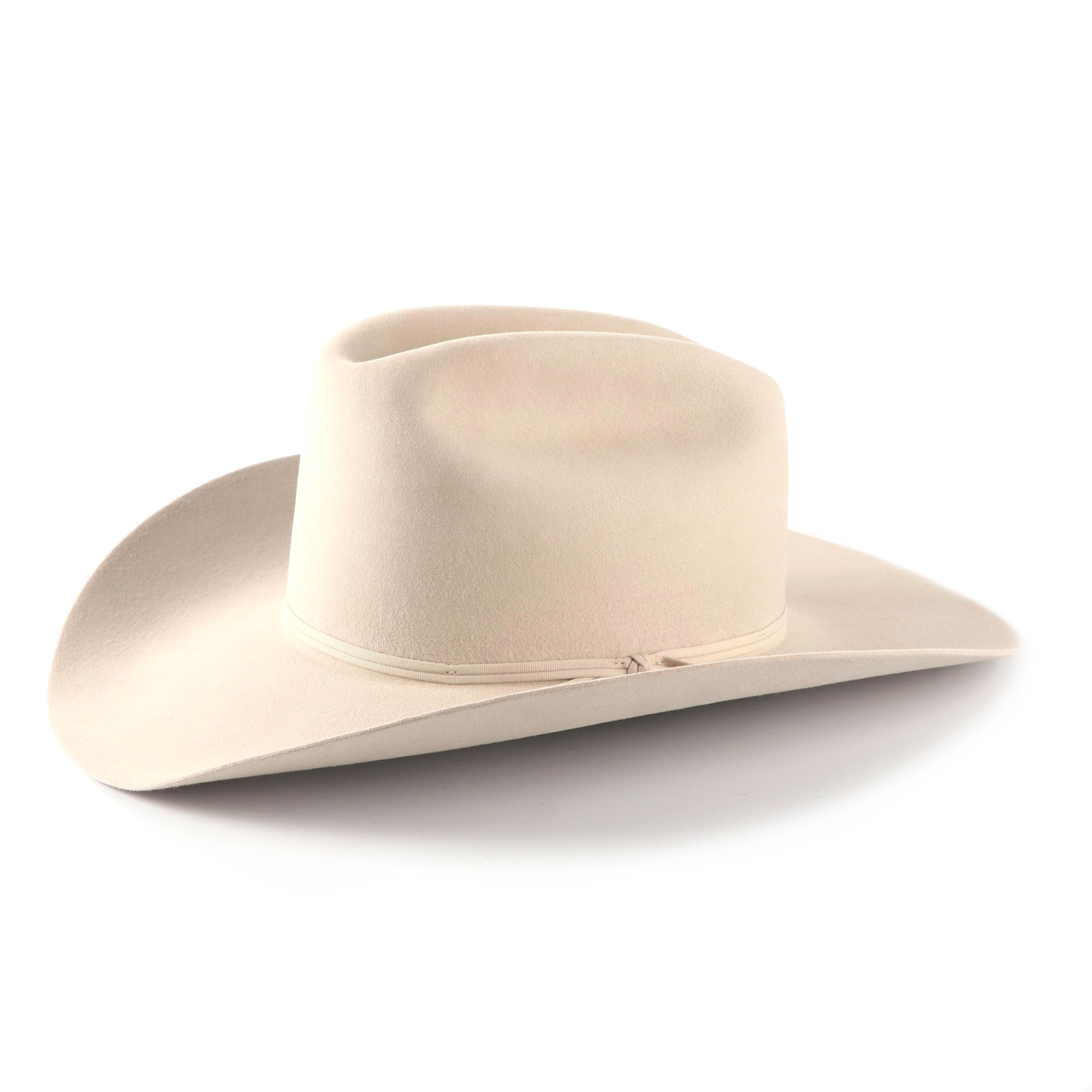 Men's Stetson Ivory 4X Felted Wool Cowboy Hat