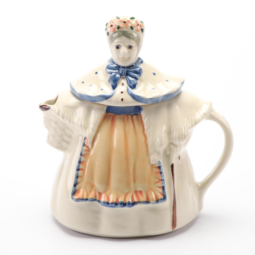Granny Ceramic Teapot Attributed To Shawnee Ebth