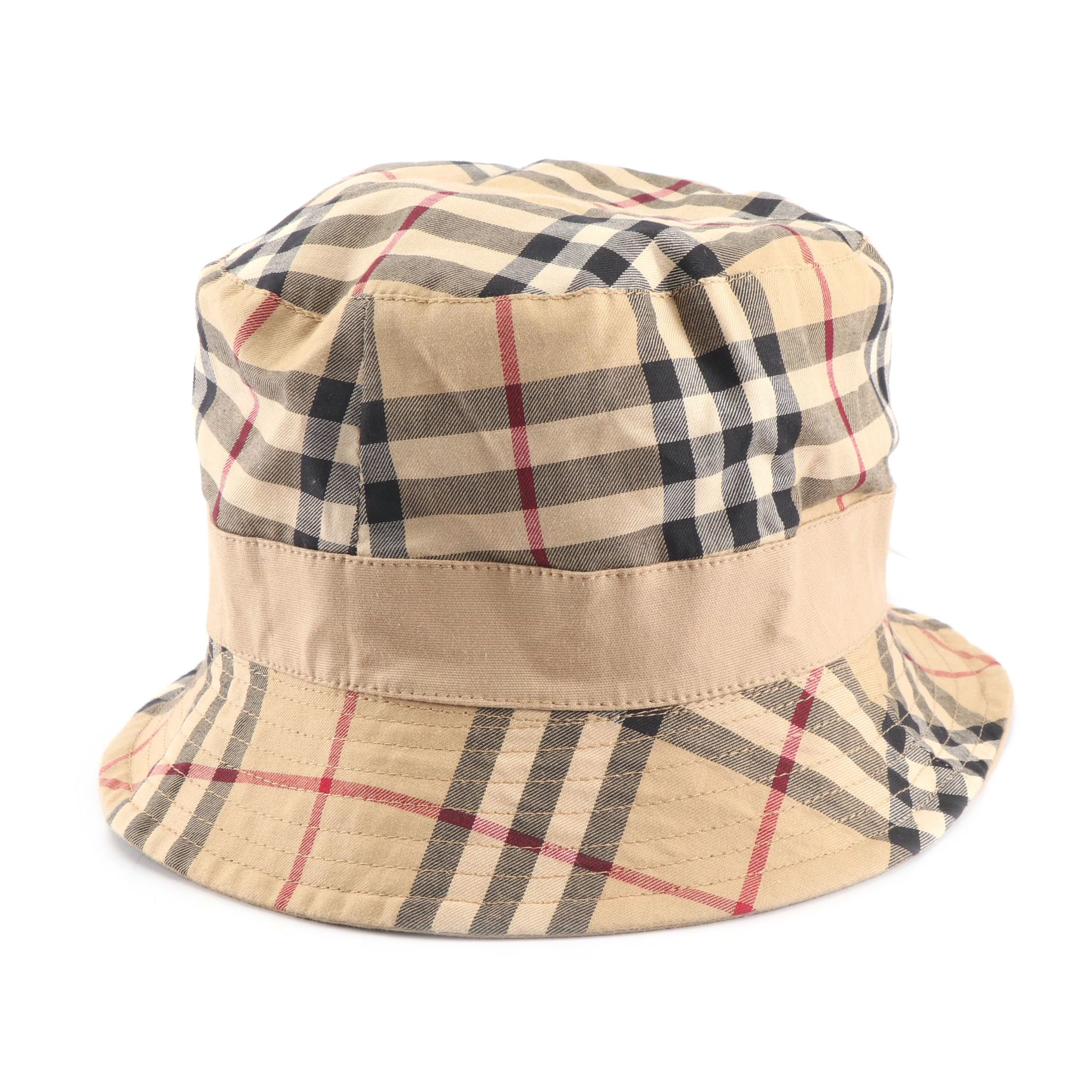 "Burberry ""Nova Check"" Bucket Hat"