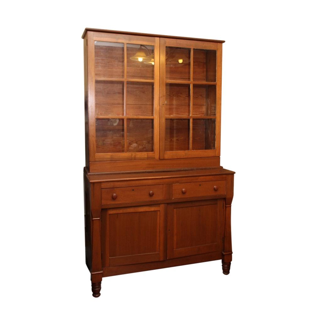 Vintage Wooden China Cabinet
