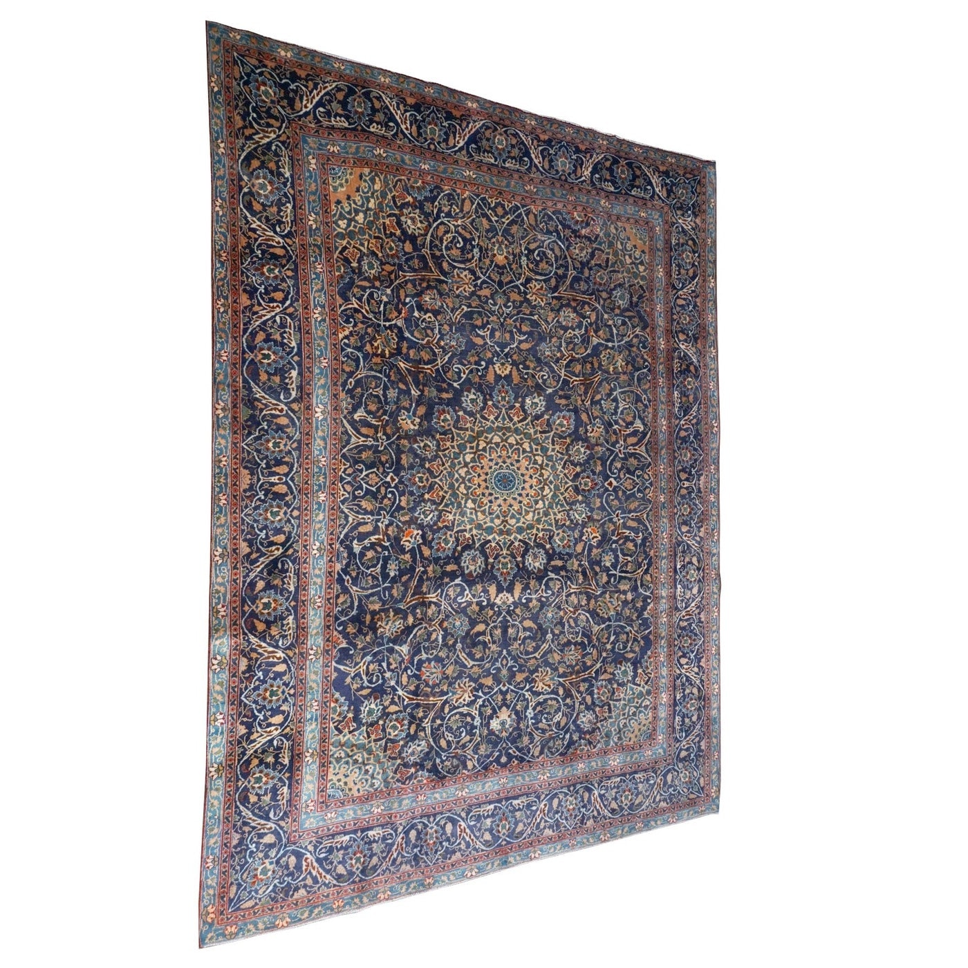 Hand-Knotted Kashmir Wool Room Sized Rug