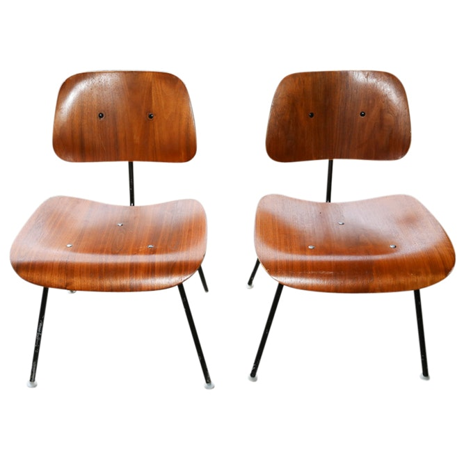 """Eames Molded Plywood Dining Chair"" Bent Plywood Chairs, Mid-20th Century"