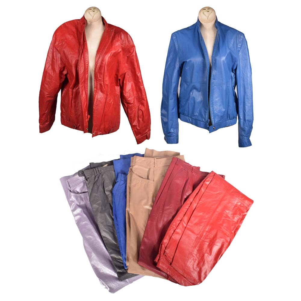 Women's Vintage Leather Pants and Jackets