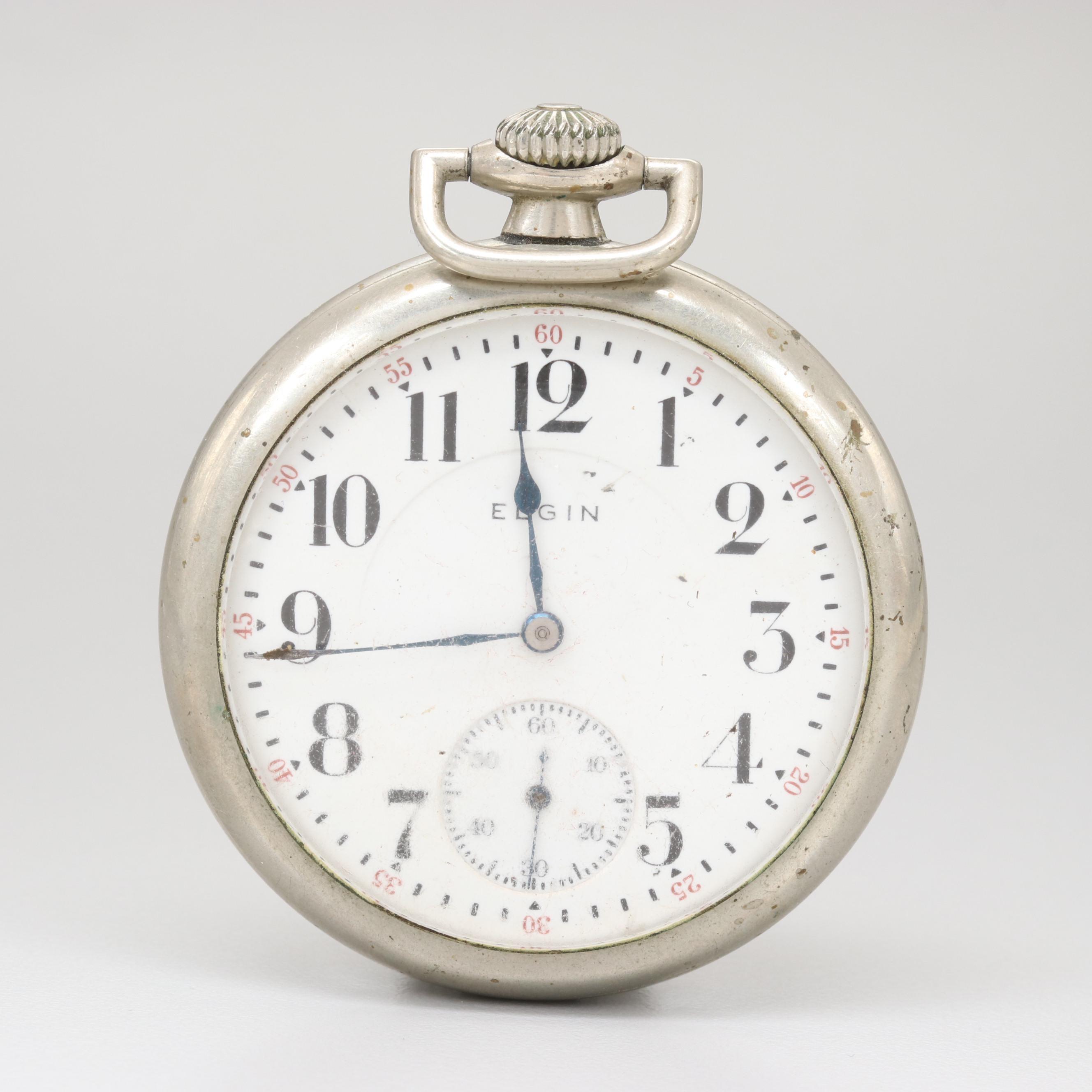 """Circa 1914 Elgin """"Silveroid"""" Pocket Watch"""