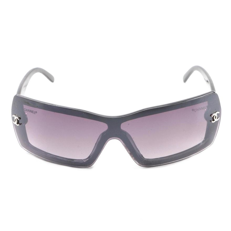 3019550ac85f Chanel Black Wrap Sunglasses   EBTH