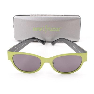 1ed7f0ff514f Anvifrieze SR-71 Green Apple Matte Black Horn-Rimmed Sunglasses with Case