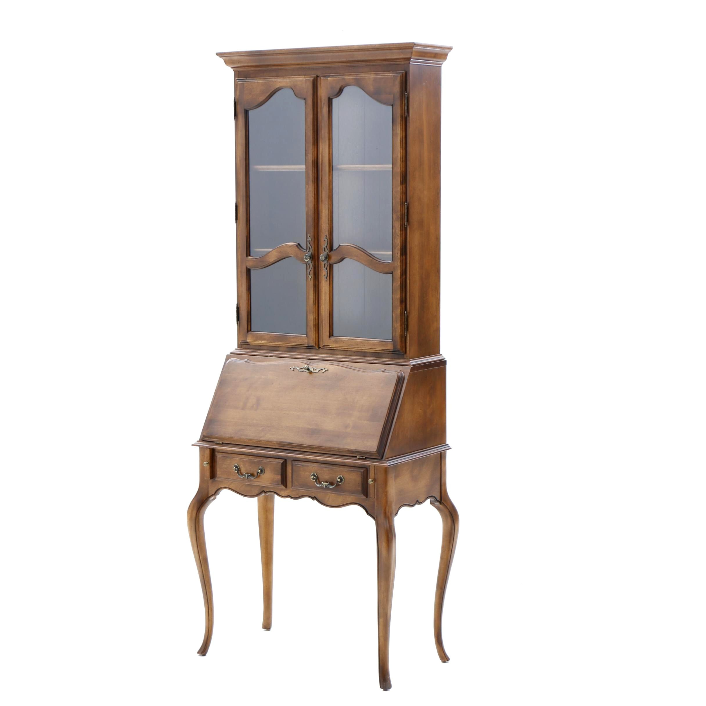 French Provincial Style Maple Secretary by Ethan Allen