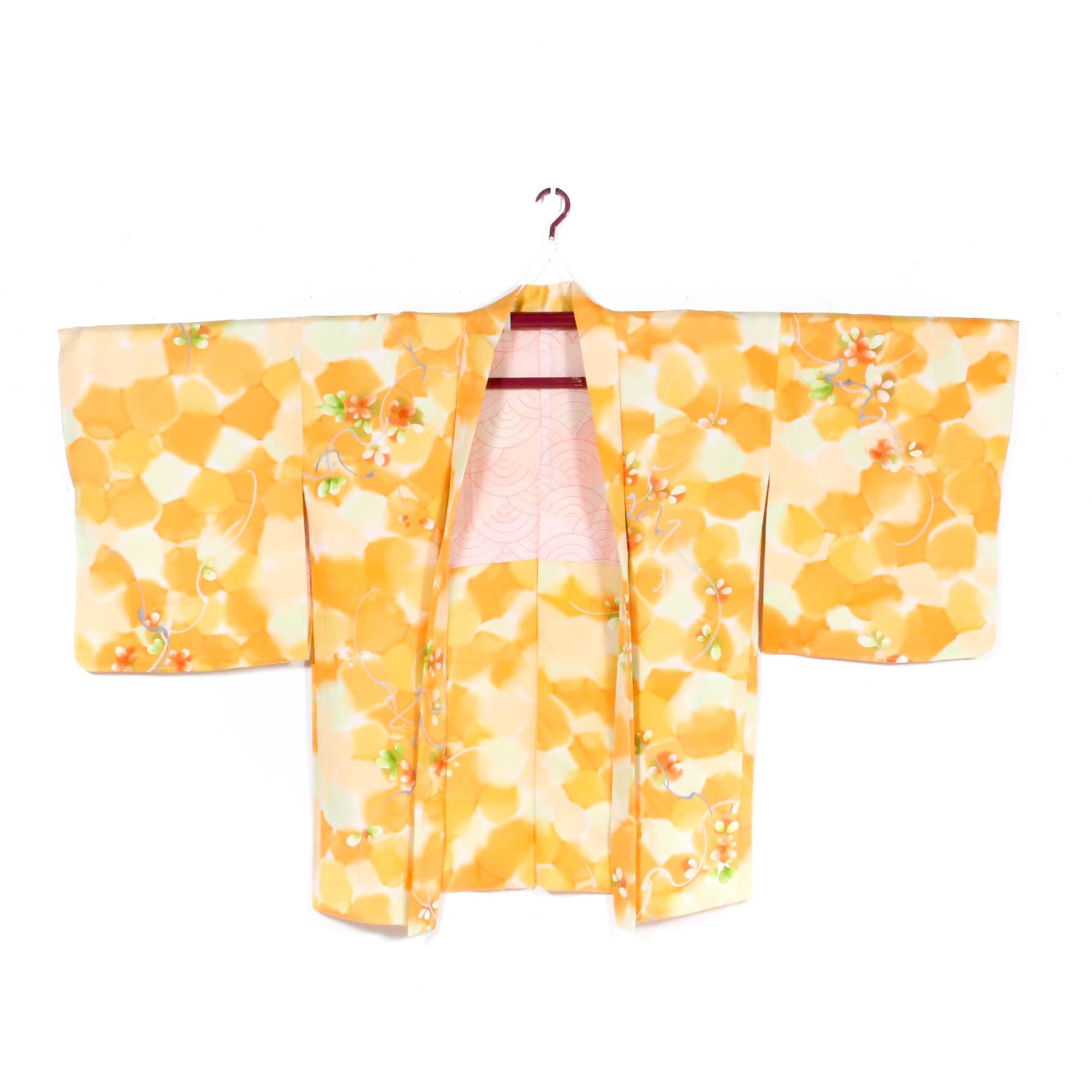 Vintage Japanese Crepe Silk Haori Jacket