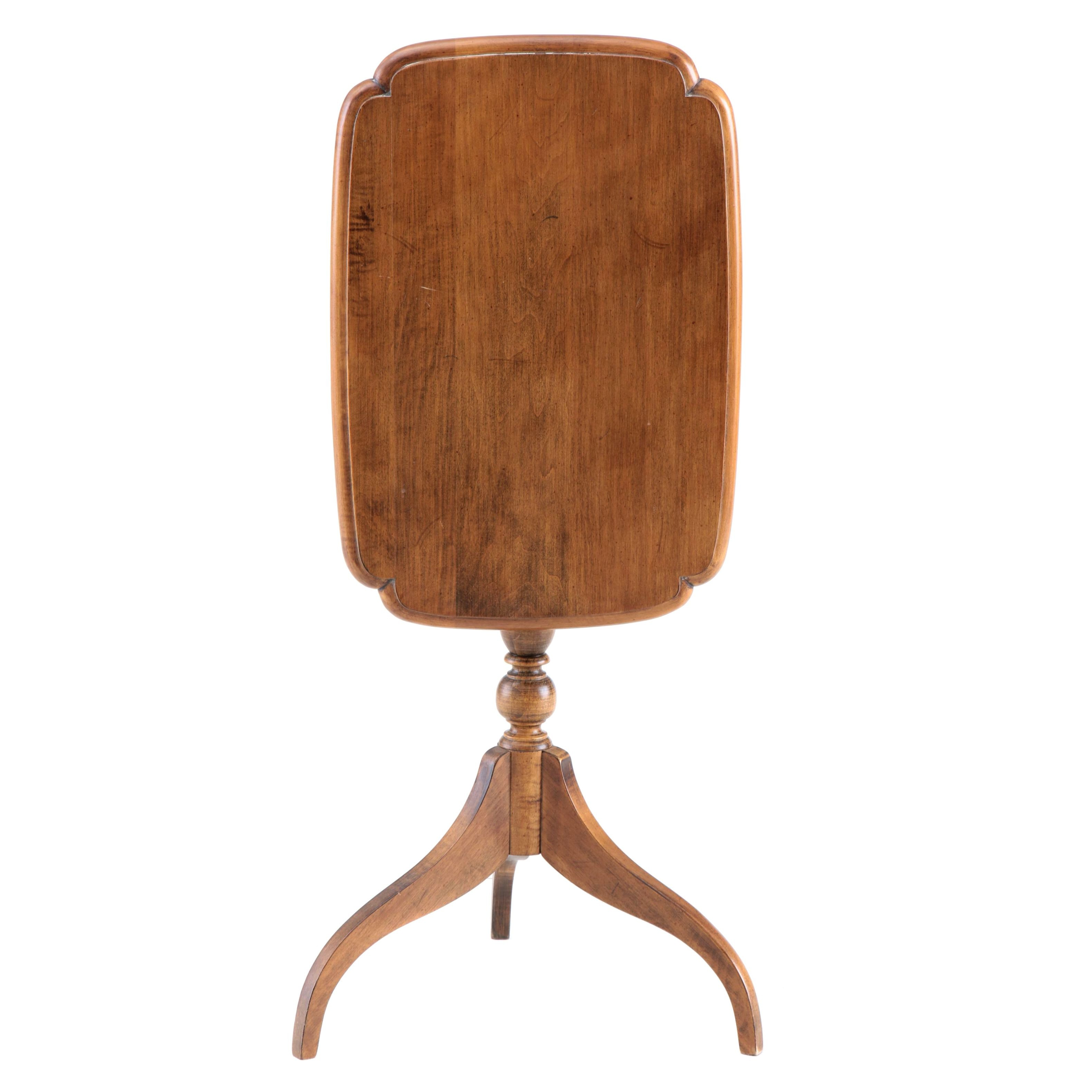 Federal Style Maple Tilt-Top Table by Ethan Allen