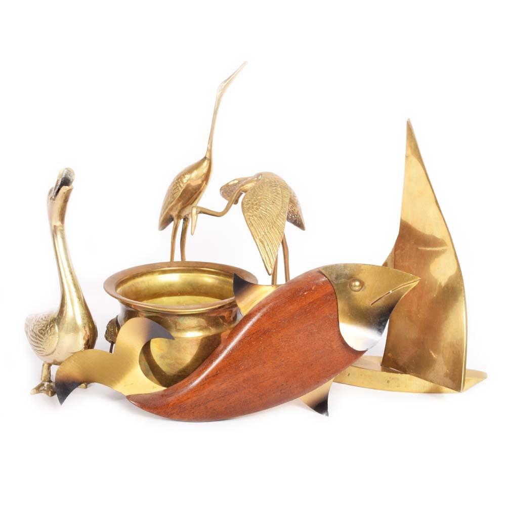 Brass Figurines and Decor