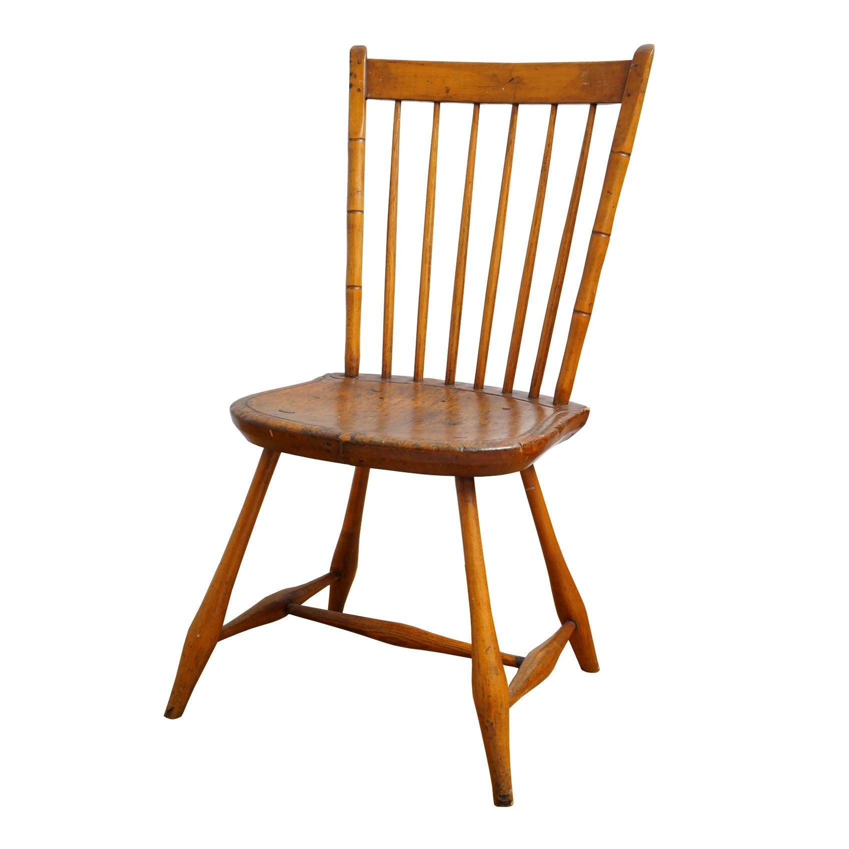 Windsor Rod-Back Side Chair, Mid-19th Century