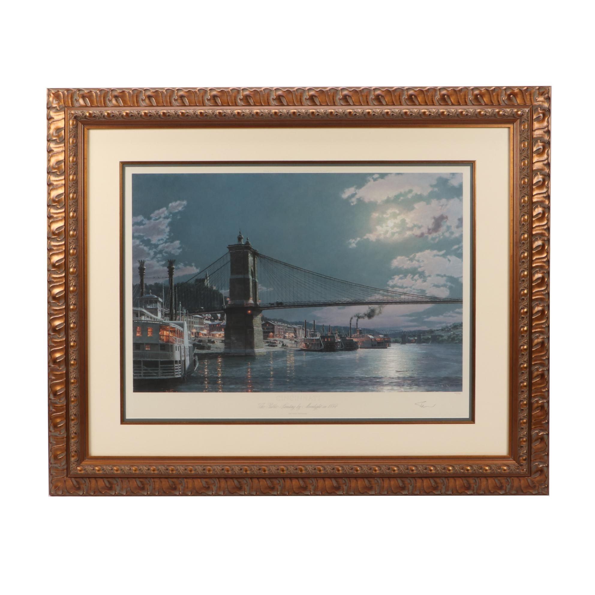 "John Stobart Limited Edition Offset Lithograph ""Cincinnati: the Public..."""