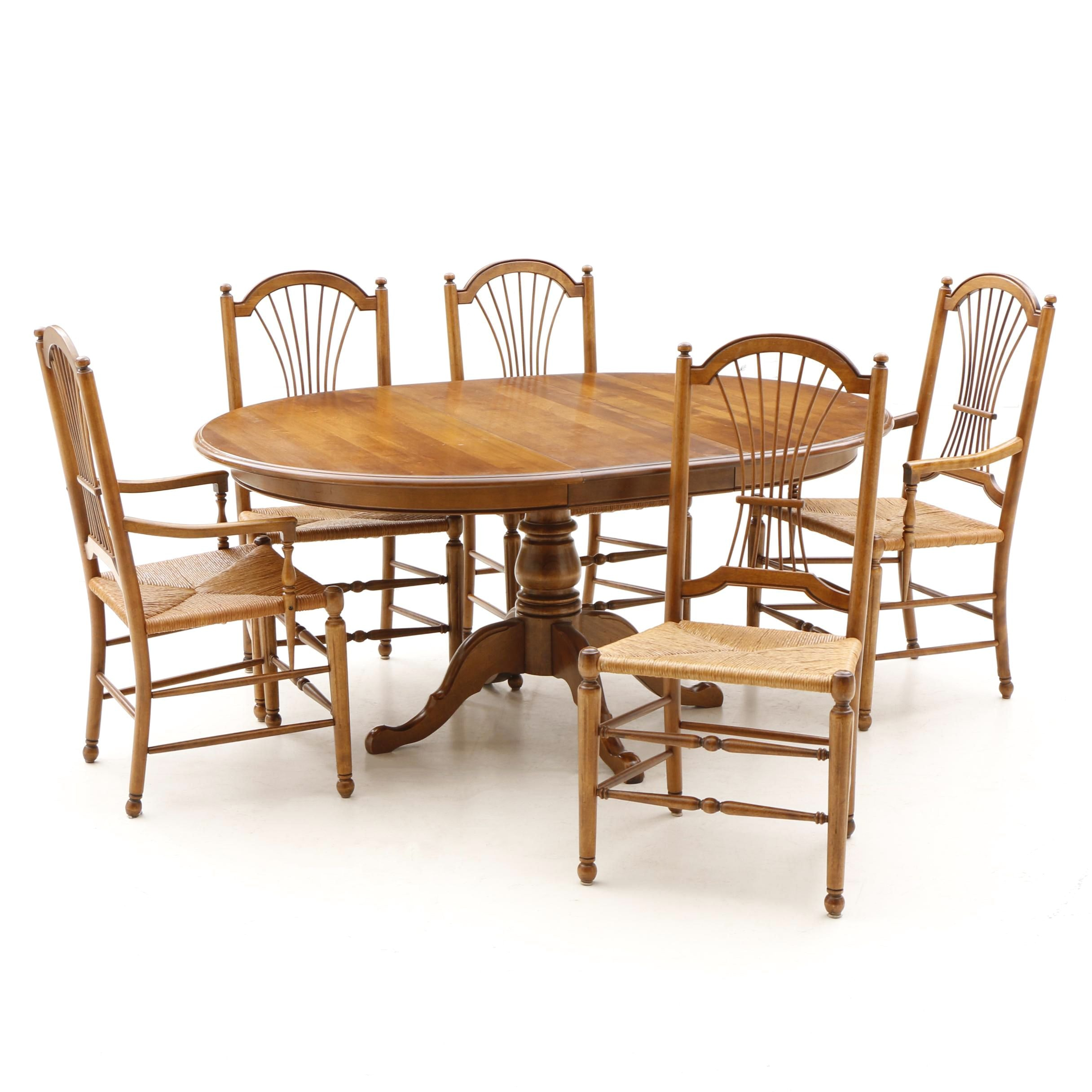 Contemporary Maple Dining Set by Ethan Allen, 20th Century