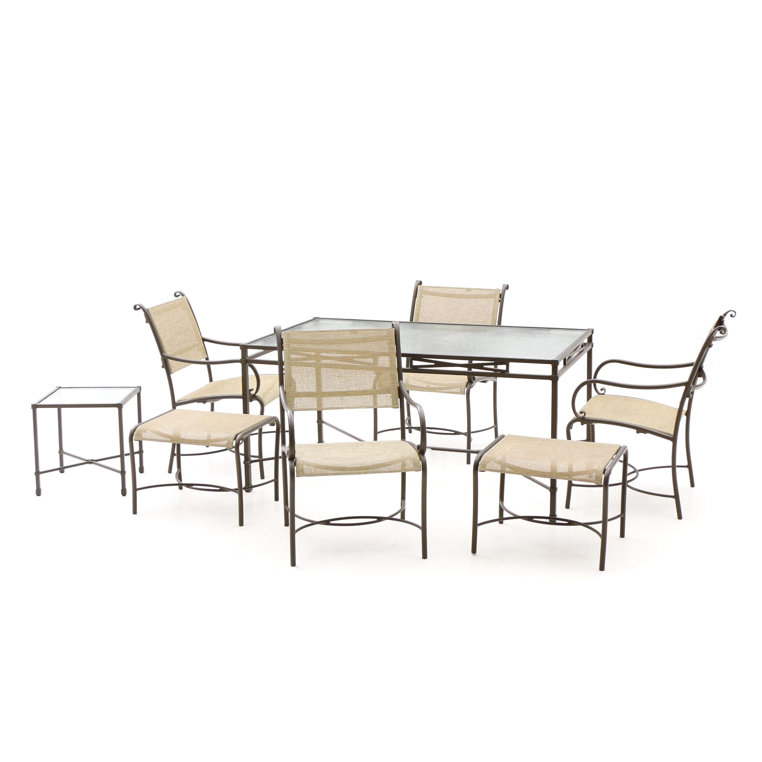 Brown Jordan Patio Chairs and Two Tables