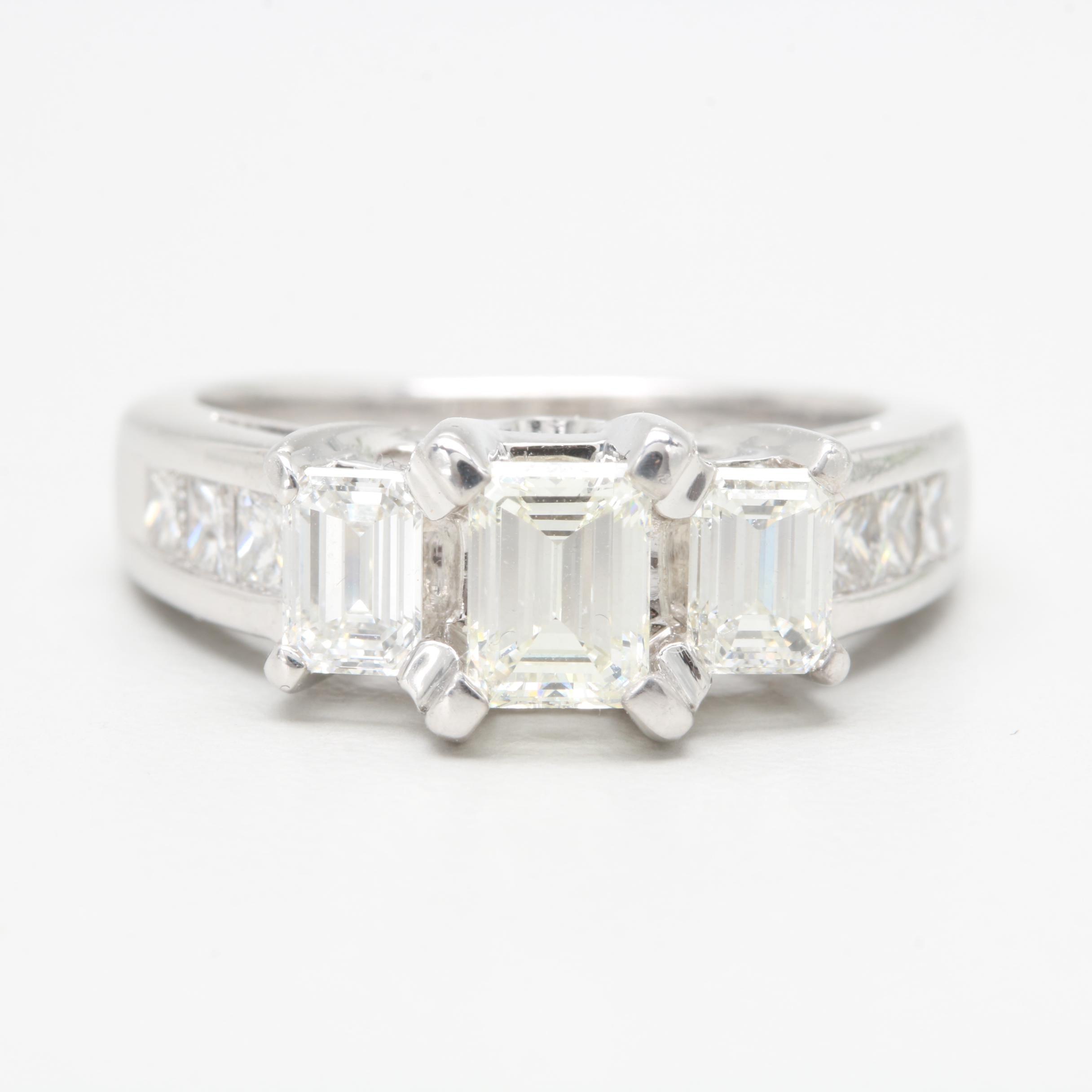 14K White Gold 2.11 CTW Diamond Ring