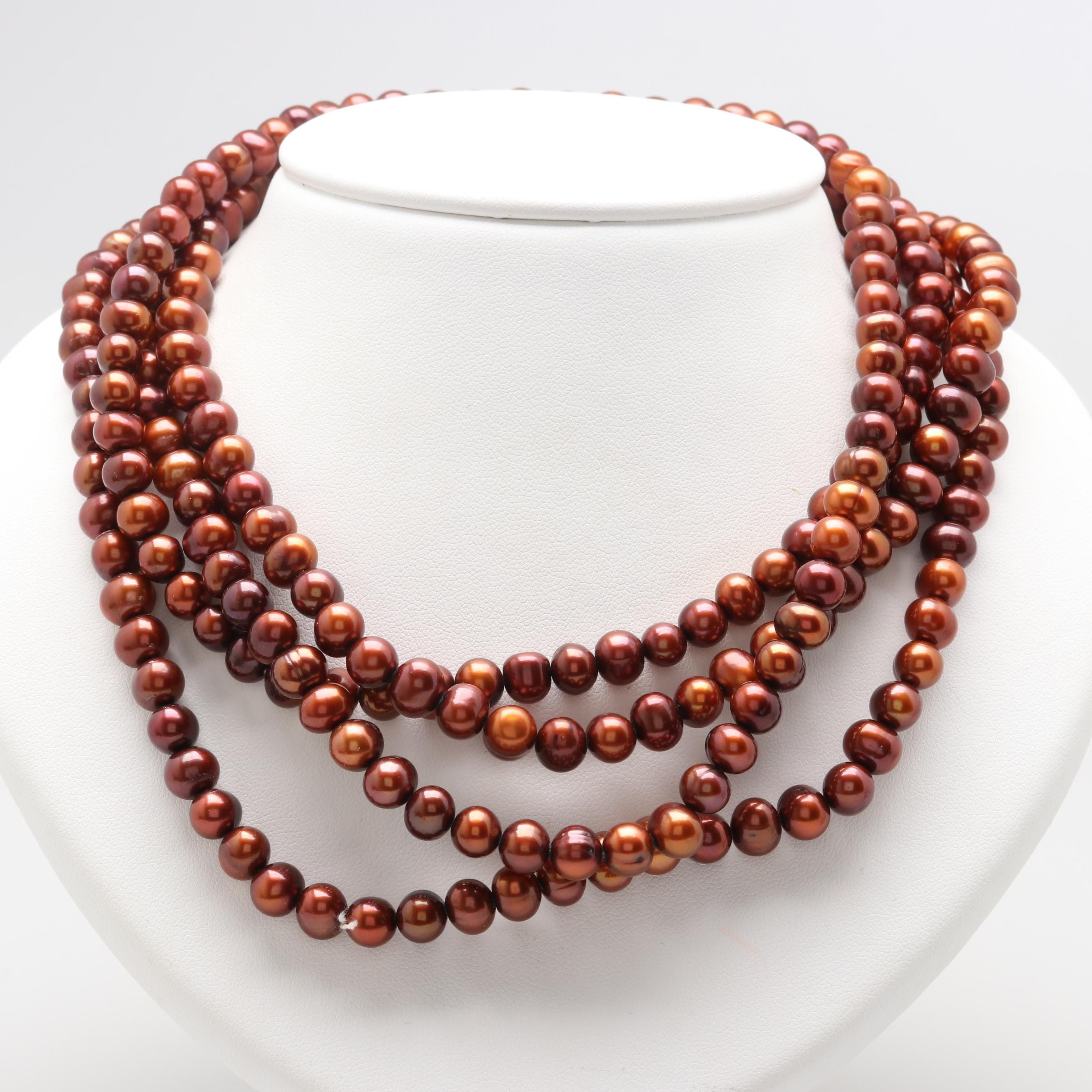 Continuous Cultured Pearl Necklace