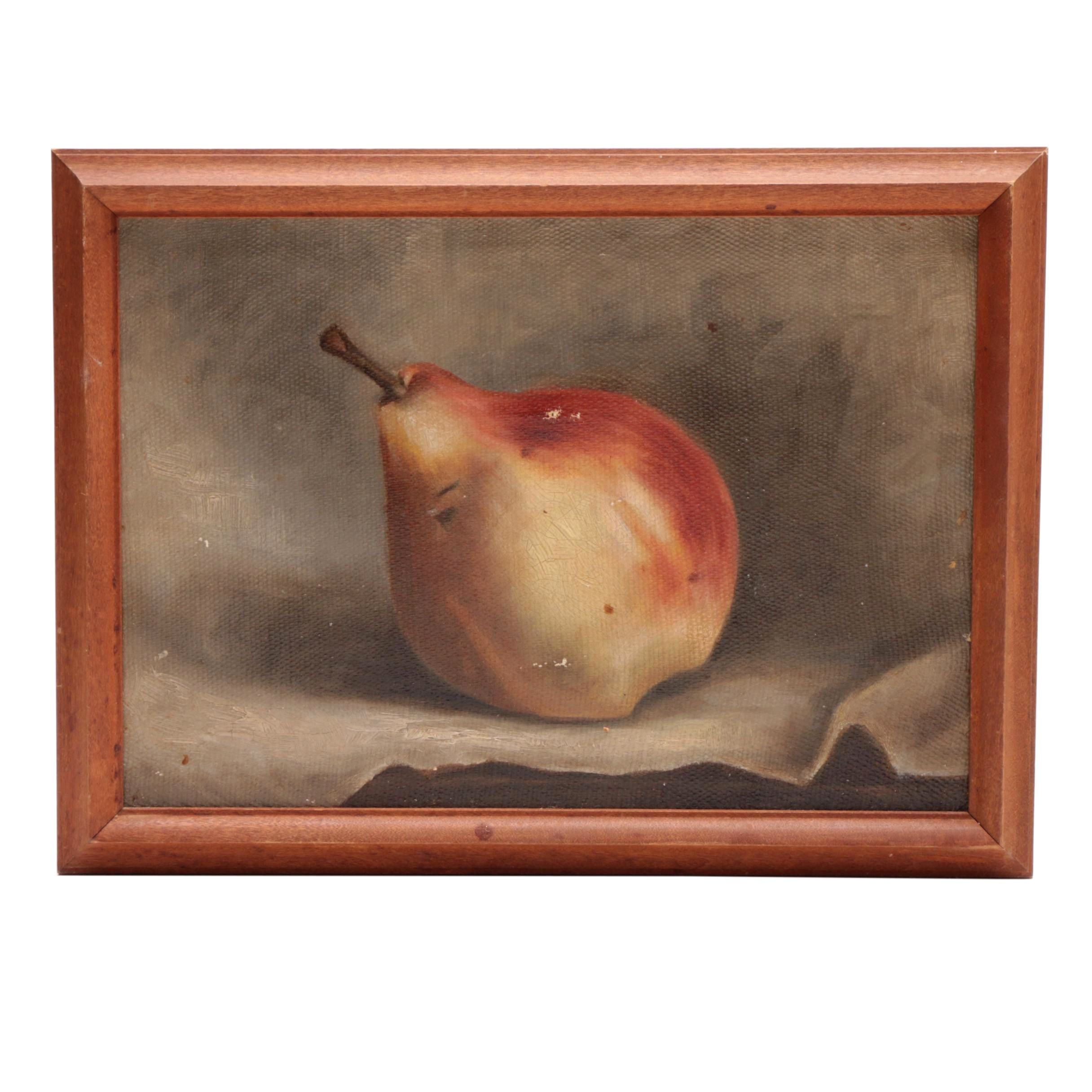 Early 20th-Century Still Life Oil Painting