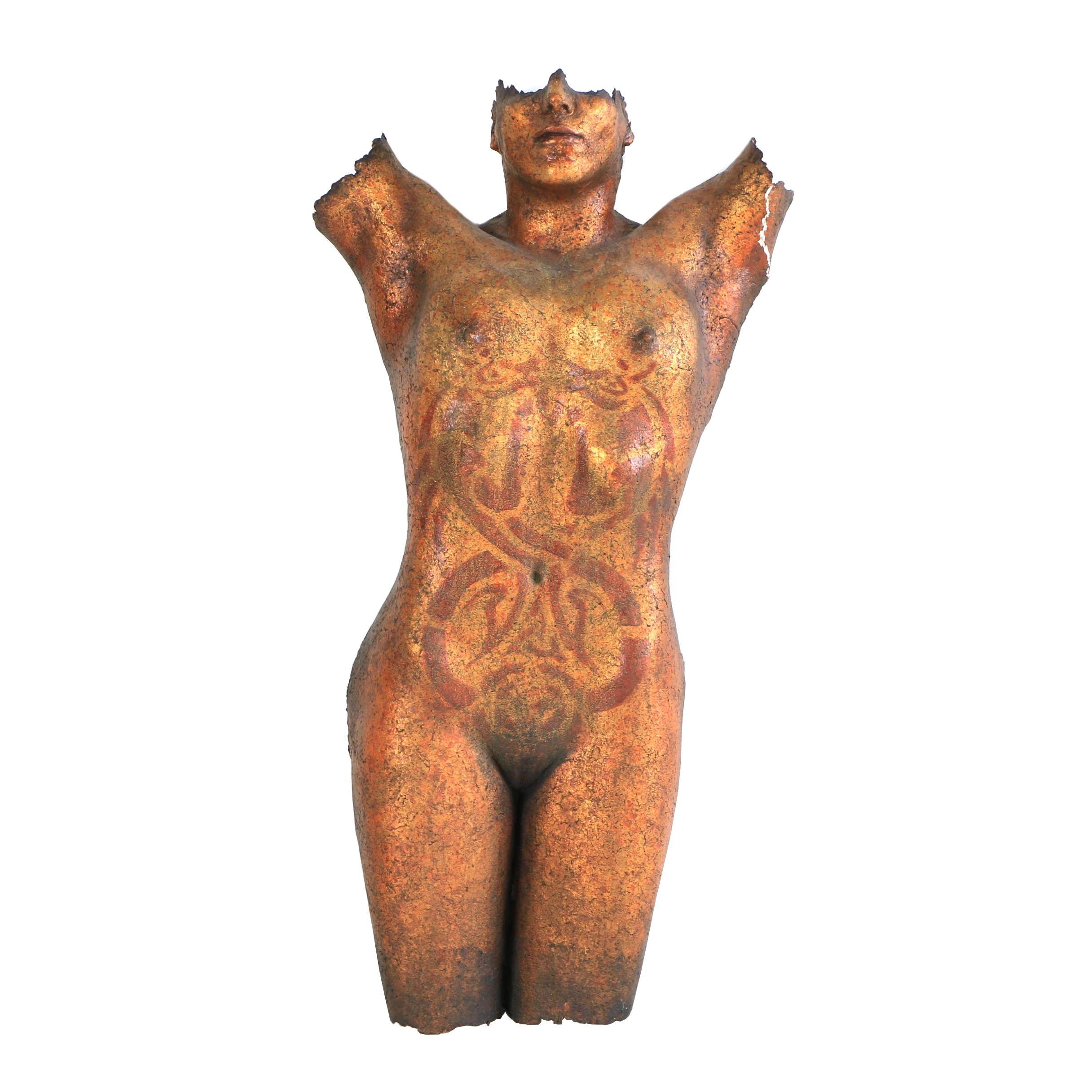 "1991 Miles Lowry ""Female Torso"" Cast Fiberglass Wall Sculpture"