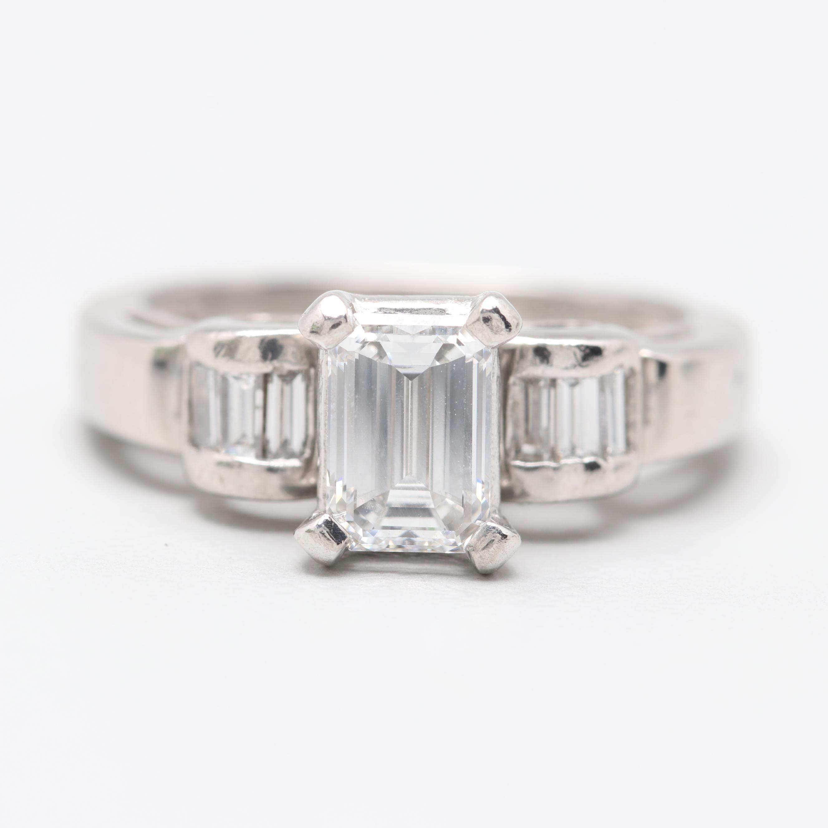 Platinum 1.16 CTW Diamond Ring