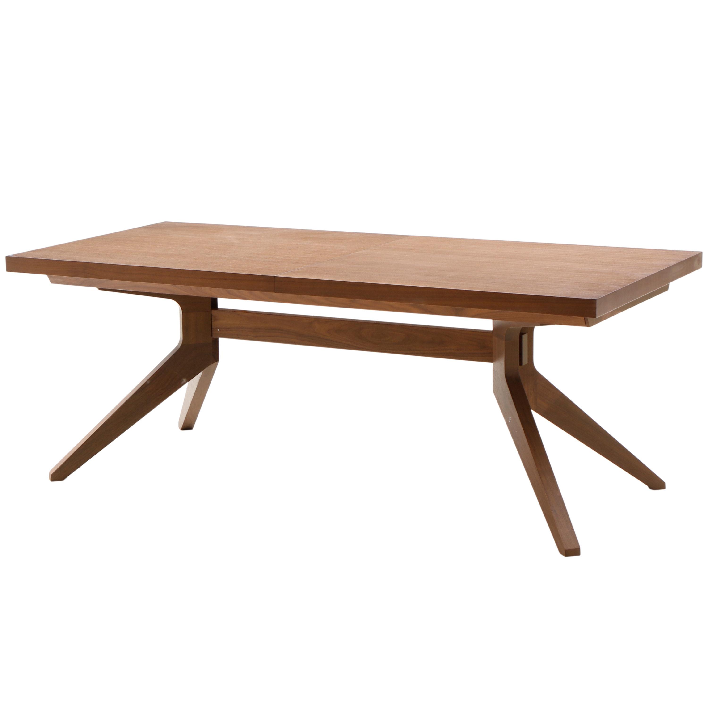 """Oak """"Cross Extension Table"""" by Matthew Hilton for Case"""