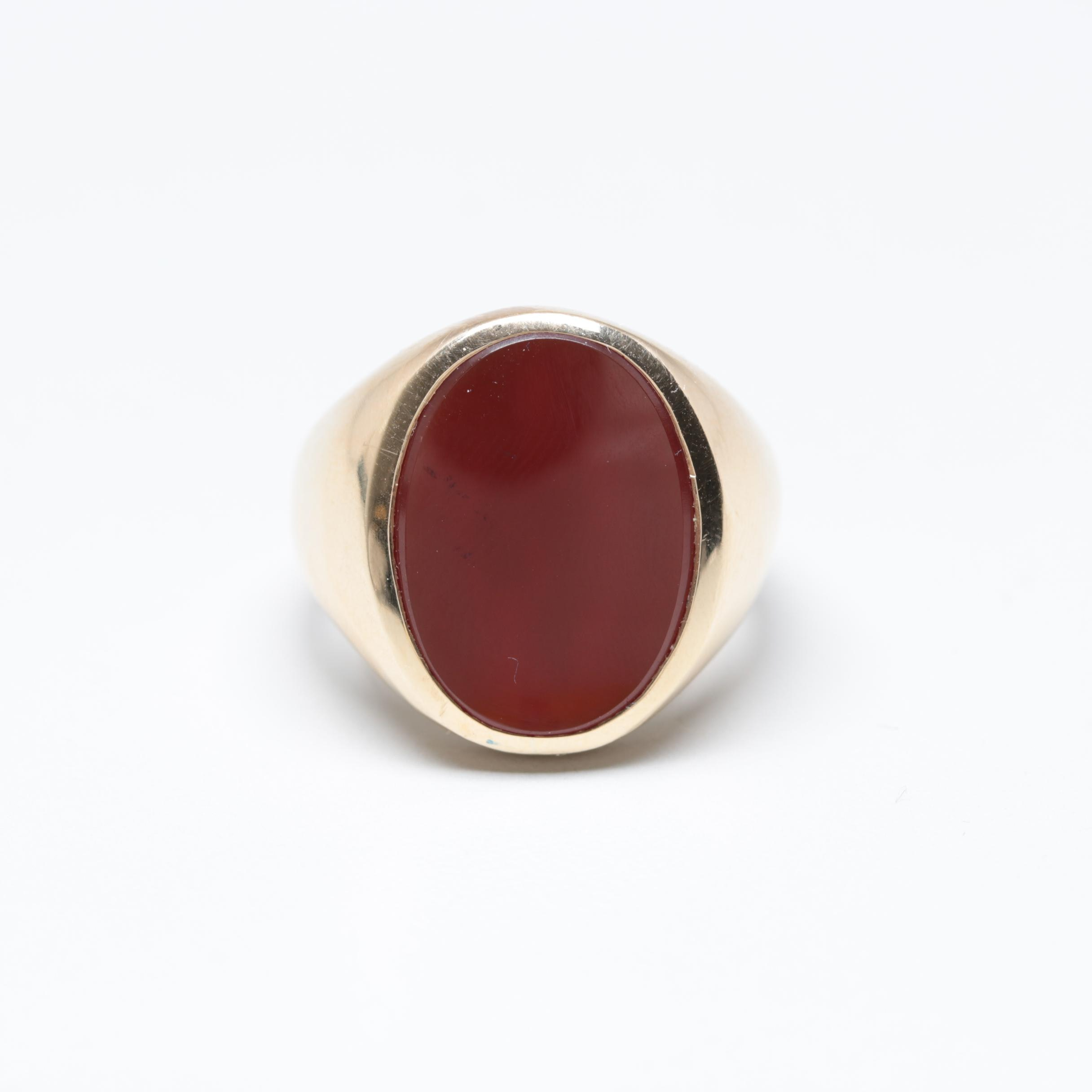 10K Yellow Gold Carnelian Ring