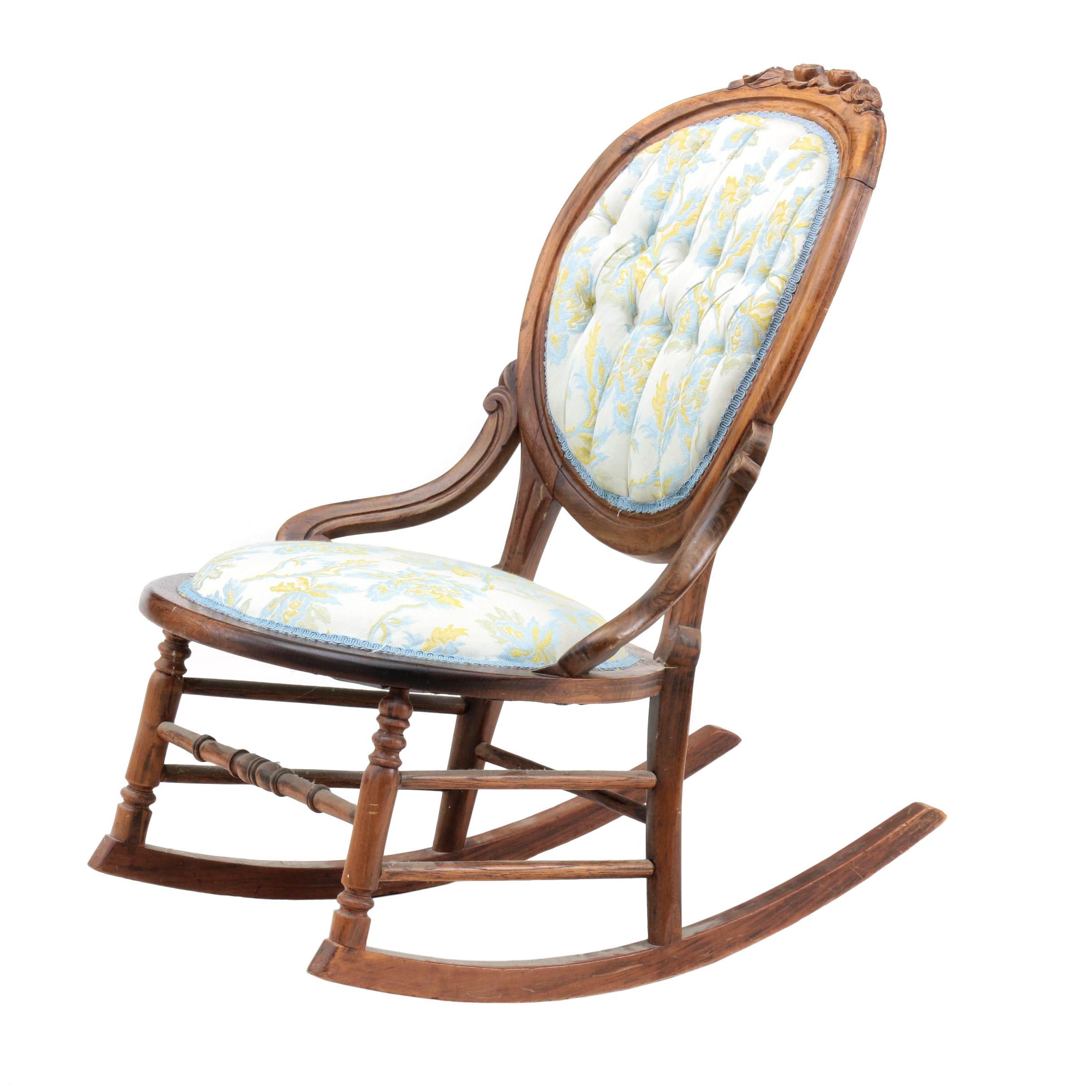 Victorian Style Rocking Chair in Walnut