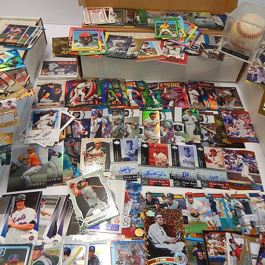 Baseball Card Collection With Over 2500 Cards Williams Cobb Clemente Etc