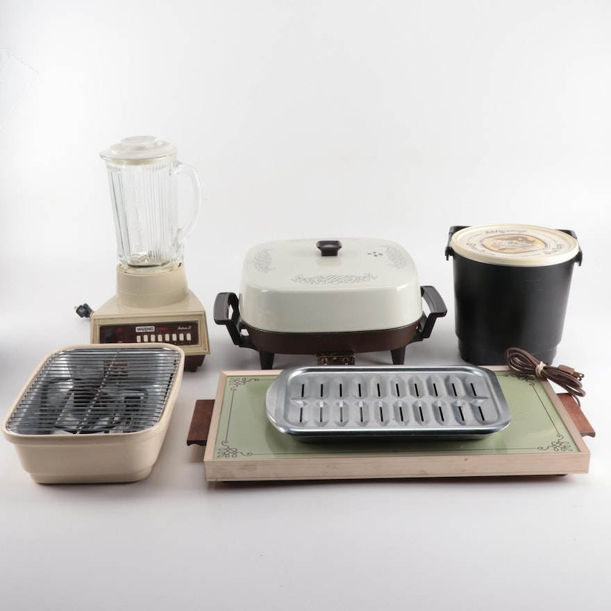 Vintage Small Kitchen Appliances Including A Cornwall Electric Tray Ebth