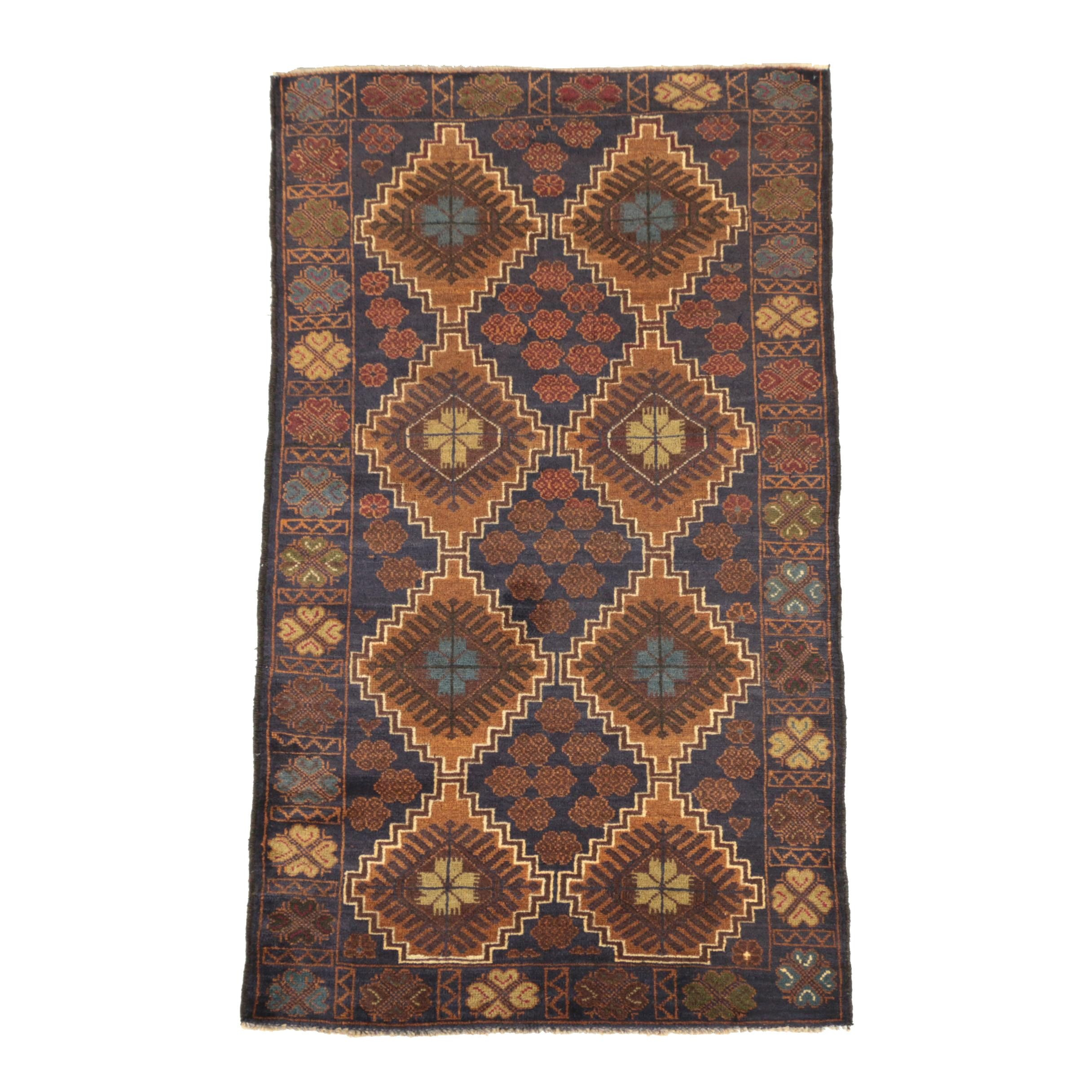Hand-Knotted Pakistani Wool Area Rug