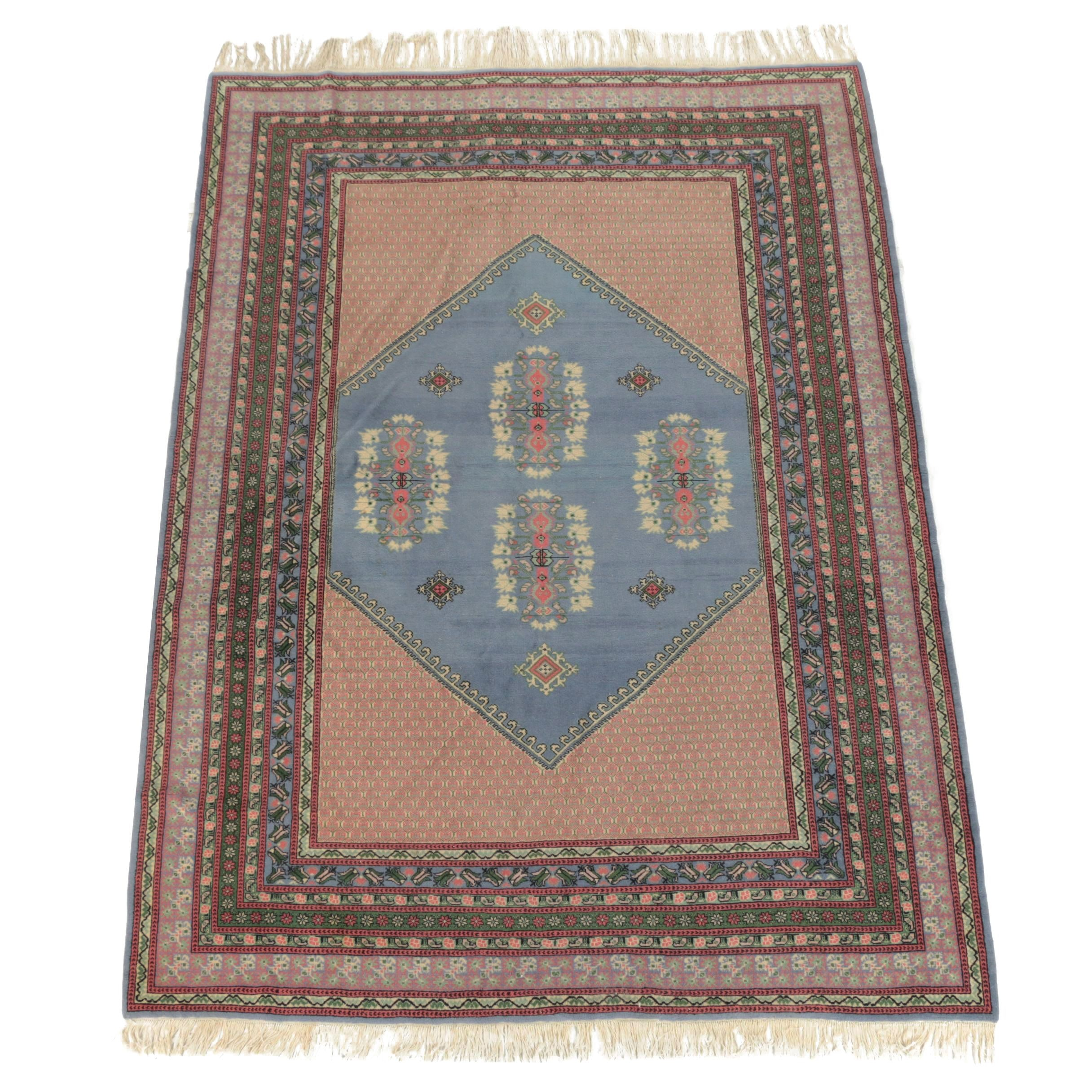 Hand-Knotted Pakistani Wool Rug