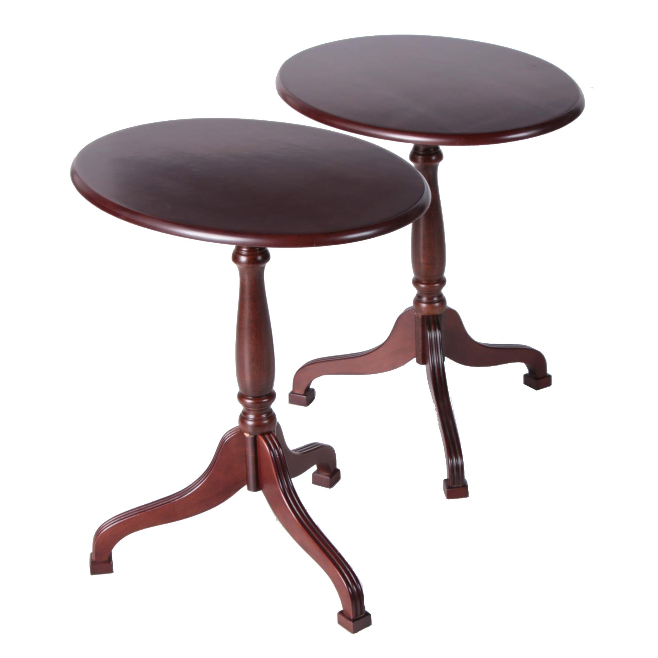 Federal Style Tilt Top Occasional Tables by The Bombay Company, 21st Century