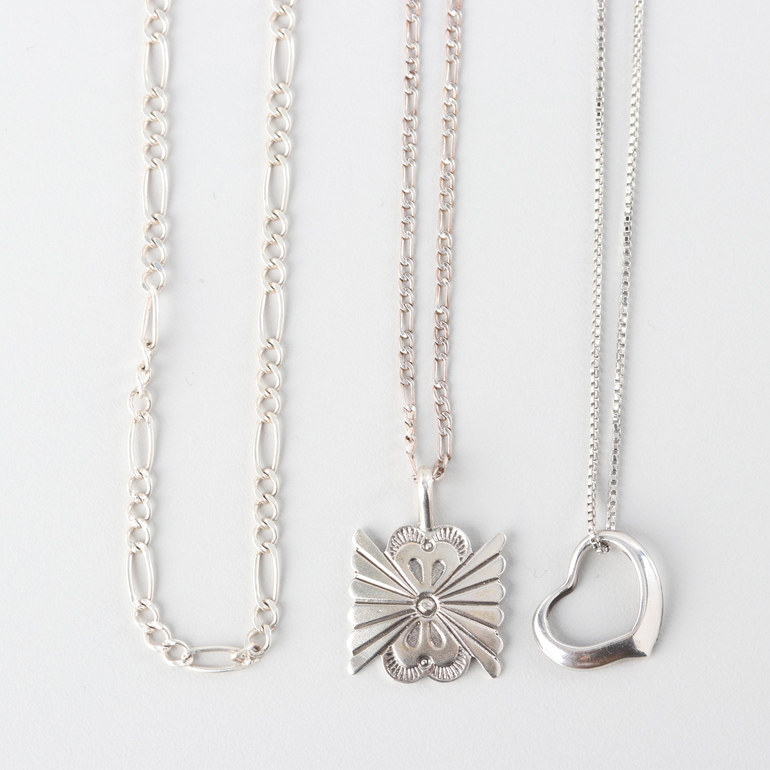 Sterling Silver Pendant Necklaces and Chains