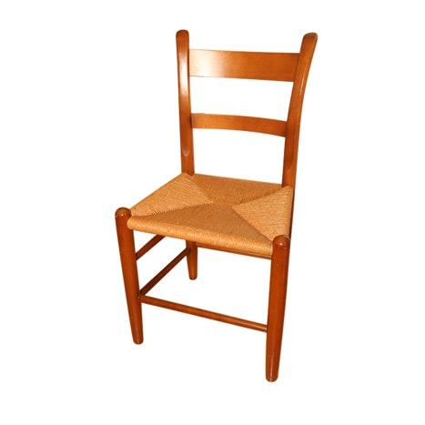 American Cherry Ladder Back Side Chair, 20th Century
