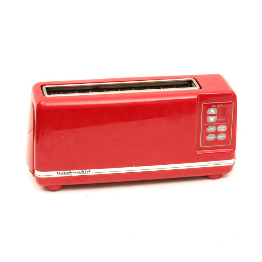 Red Kitchen-Aid Toaster : EBTH on kitchenaid blender, kitchenaid artisan, kitchenaid mixer, kitchenaid classic,