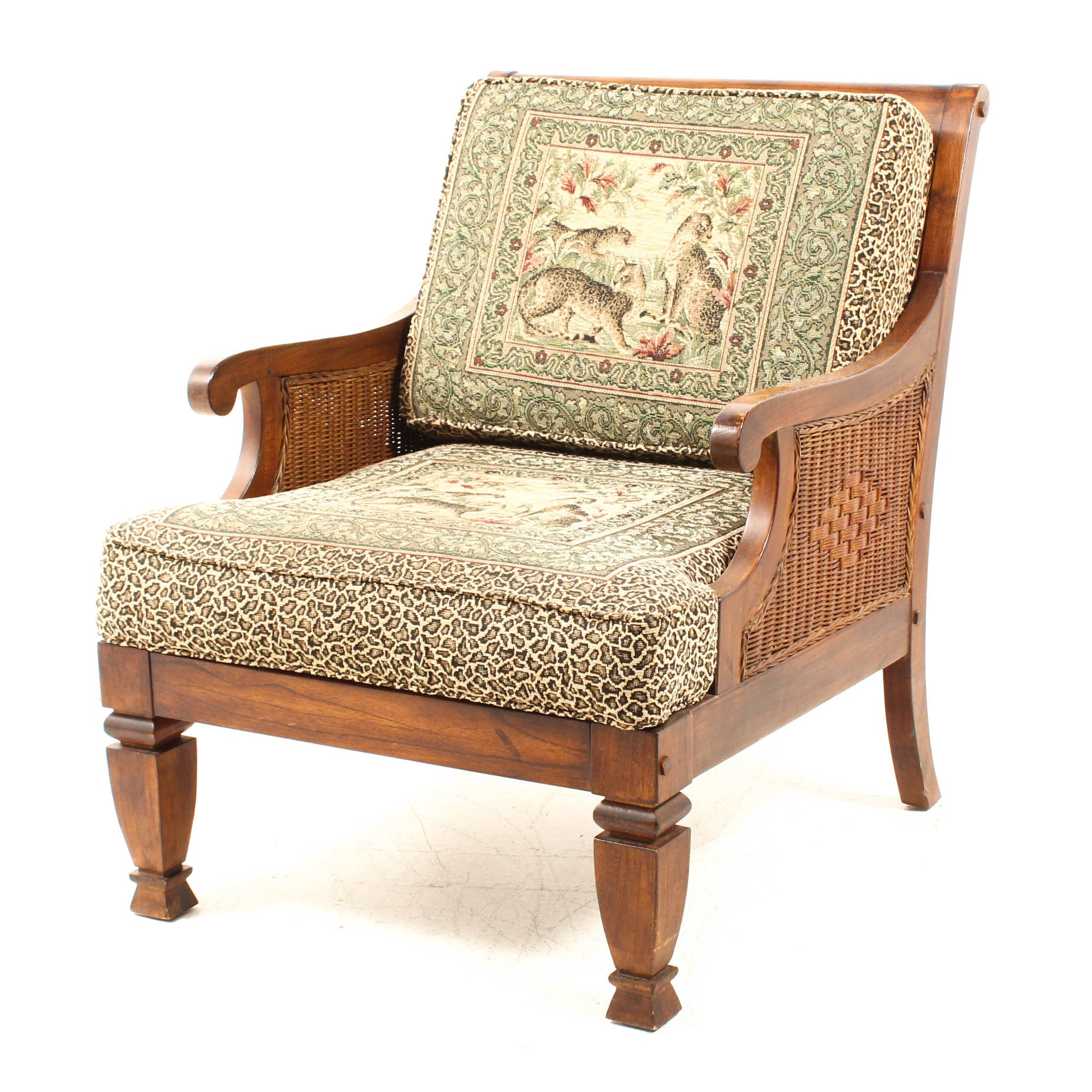 Sealy African Themed Upholstered Armchair