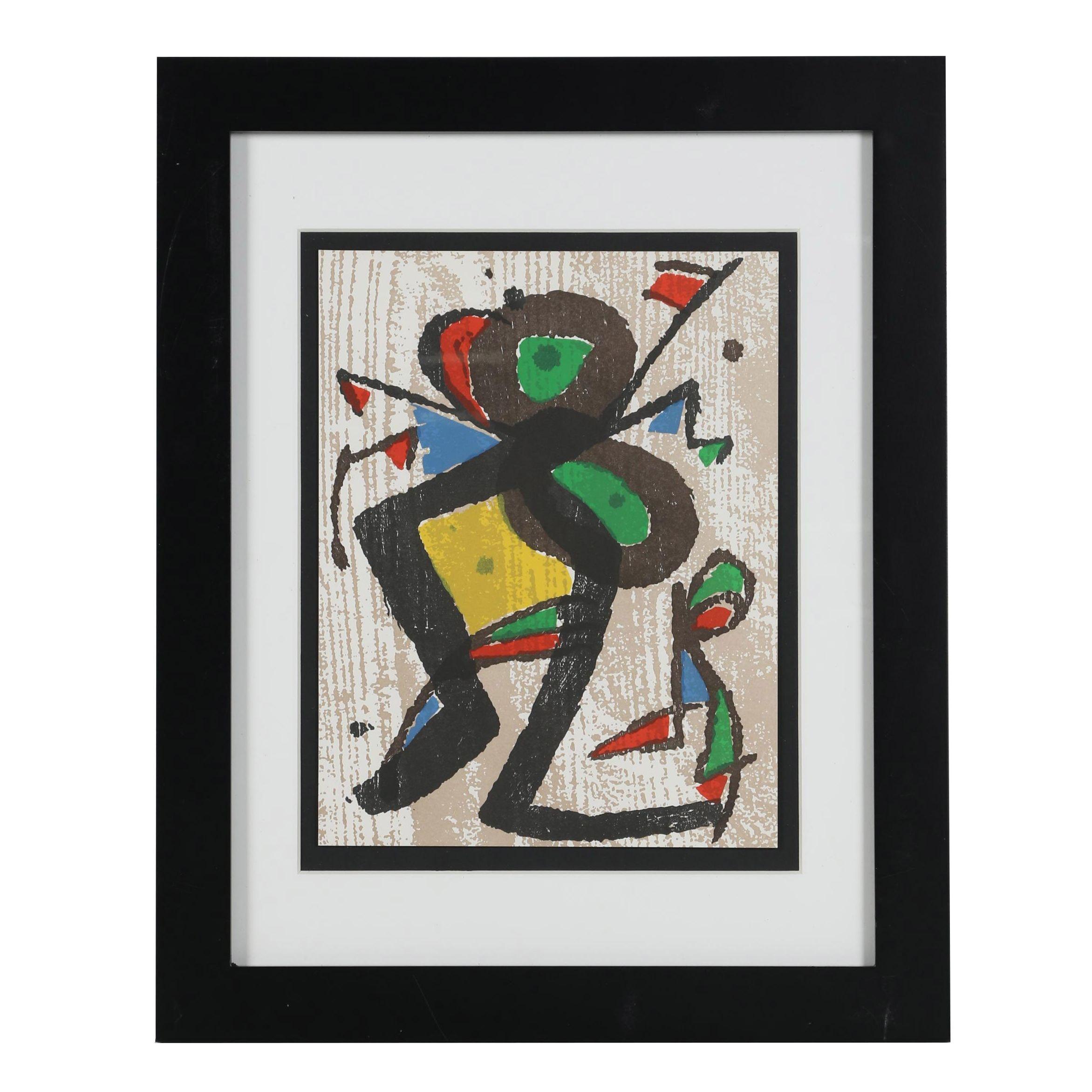 "Joan Miró Woodcut ""Miró Graveur"""