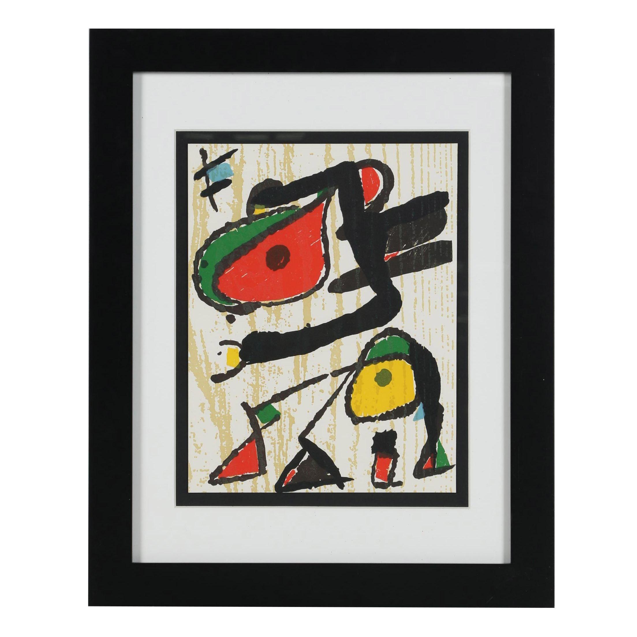 "Joan Miró Posthumous Woodcut ""Miró Graveur"""