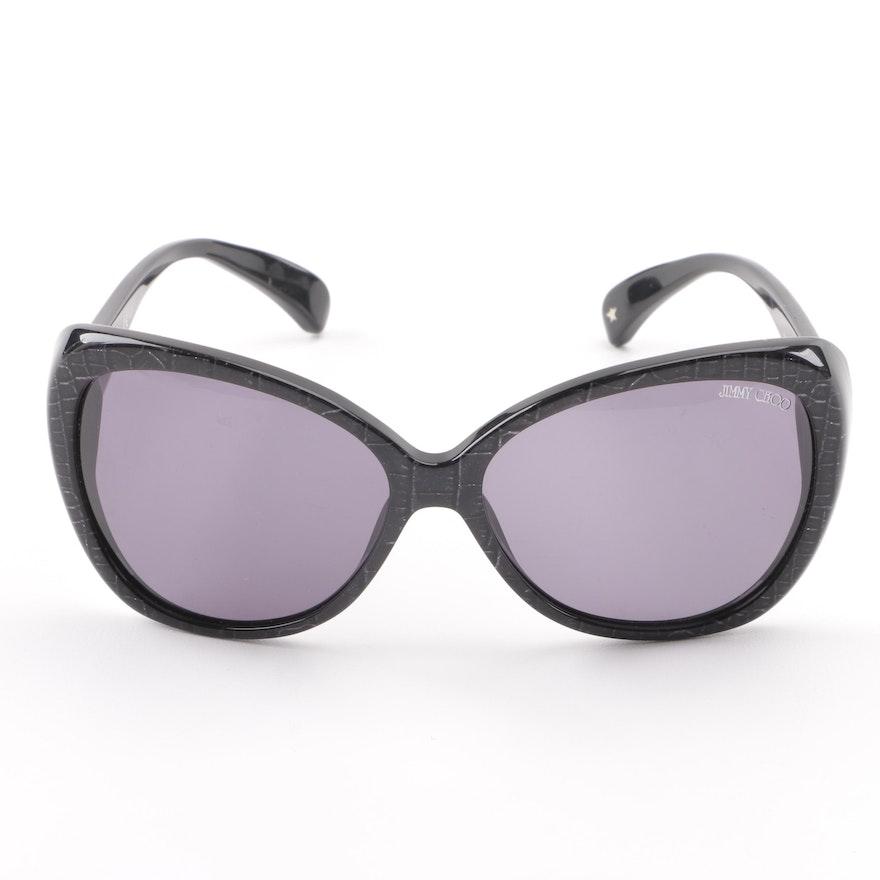 31fb3da847e3 Jimmy Choo Julie S Black Reptile Print Sunglasses   EBTH