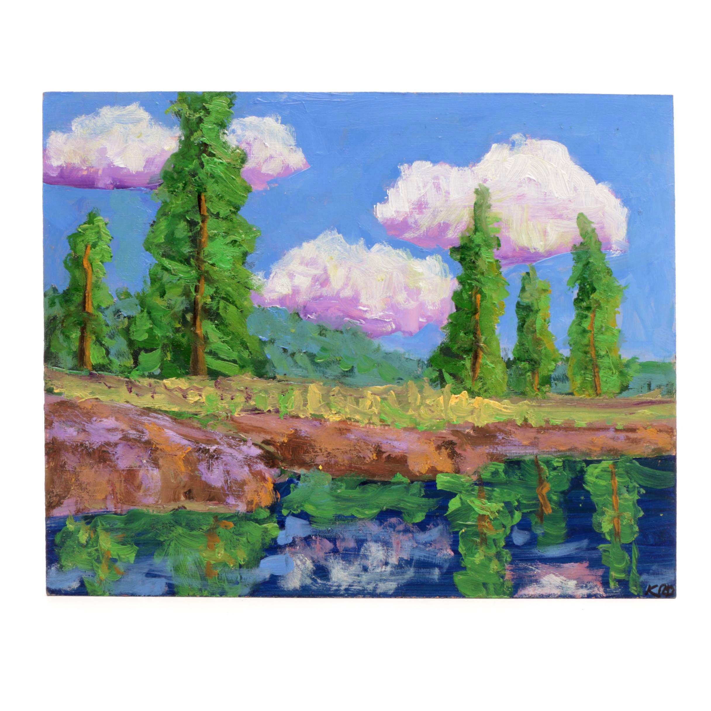 Kenneth R. Burnside Oil Landscape Painting